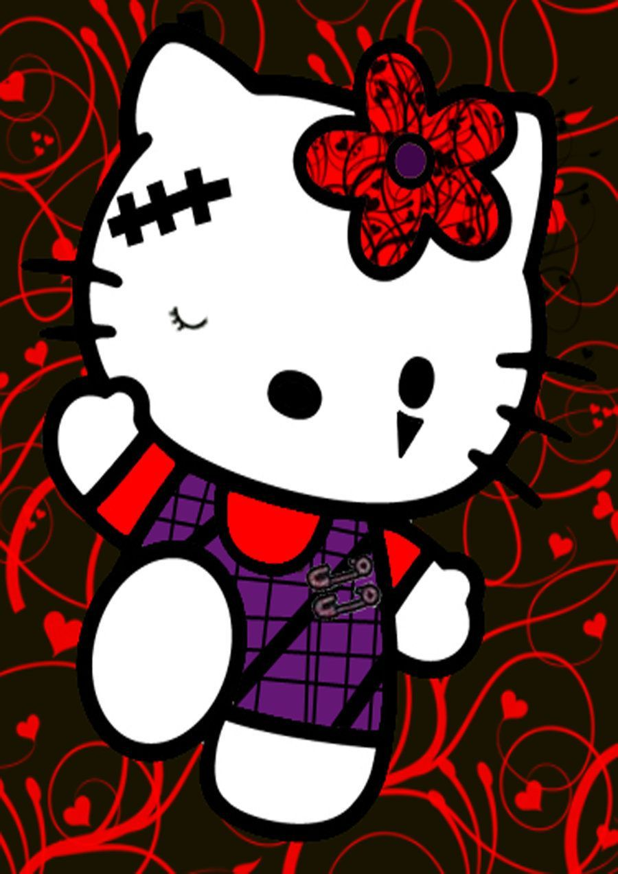 900x1273 Emo Hello Kitty Facebook Covers | Goth Hello Kitty Goth ...