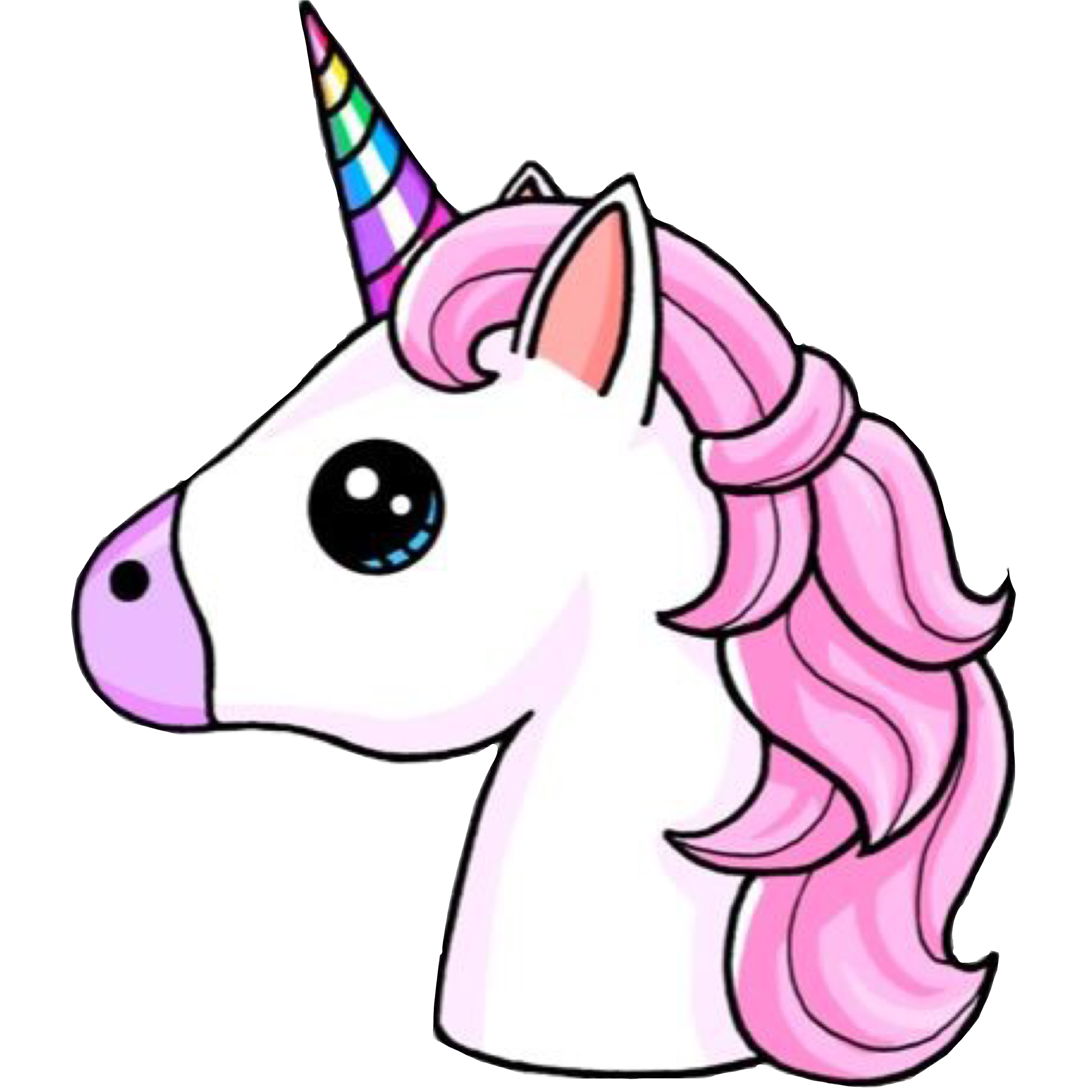 2560x2560 Unicorn, Emoji, Drawing, Pink, Horse Png Image With ...