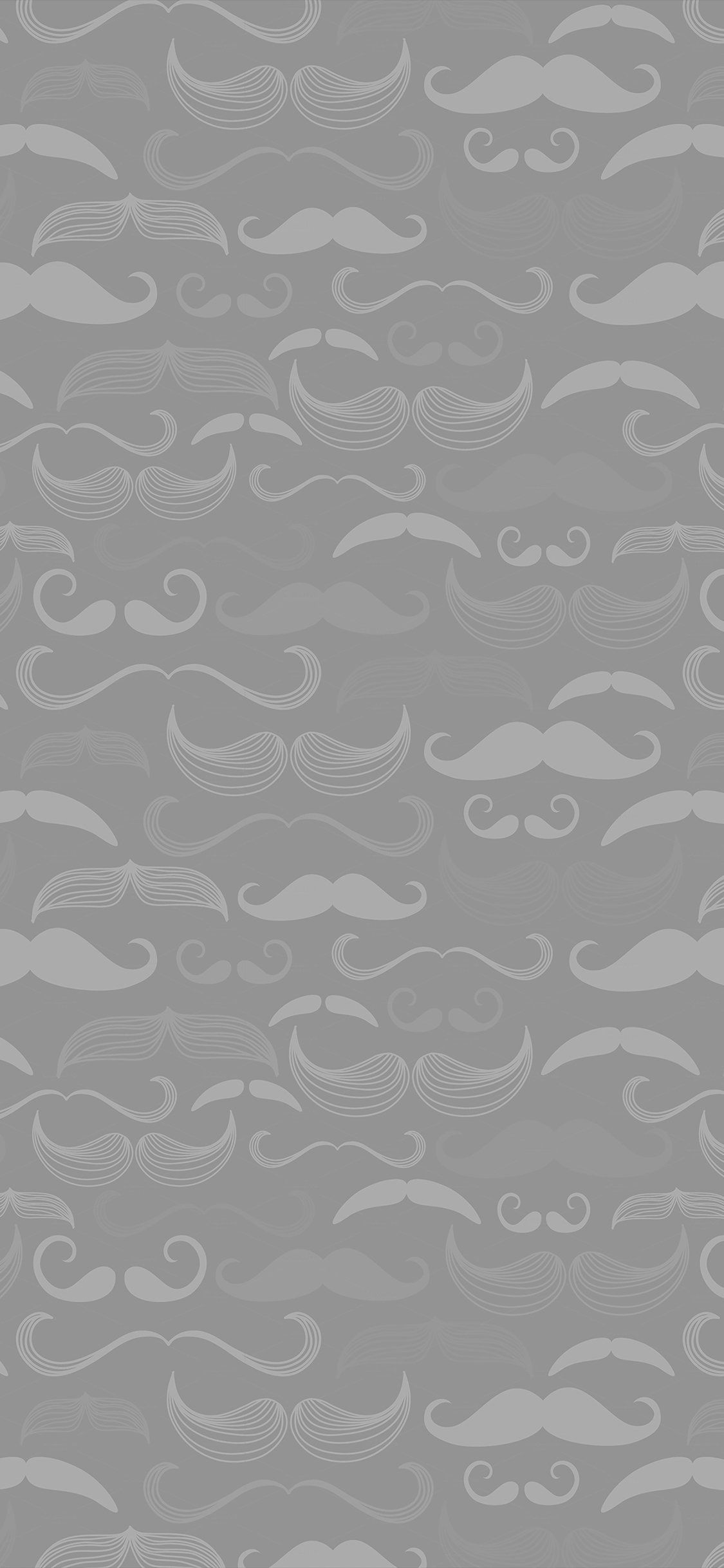 1125x2436 iPhonePapers - ve73-hipster-moustache-cute-light-patterns