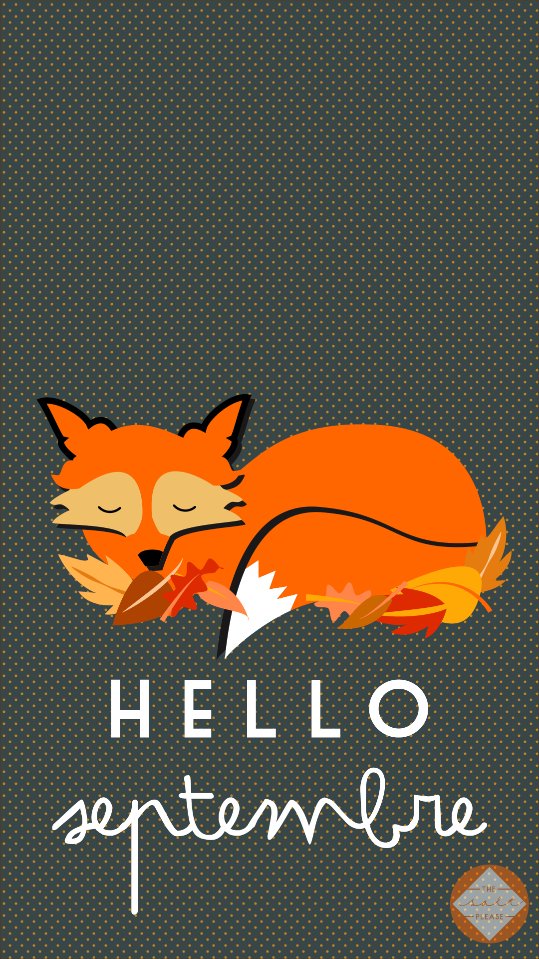 1080x1920 Hello September Autumn Fox iPhone Lock Wallpaper @PanPins ...