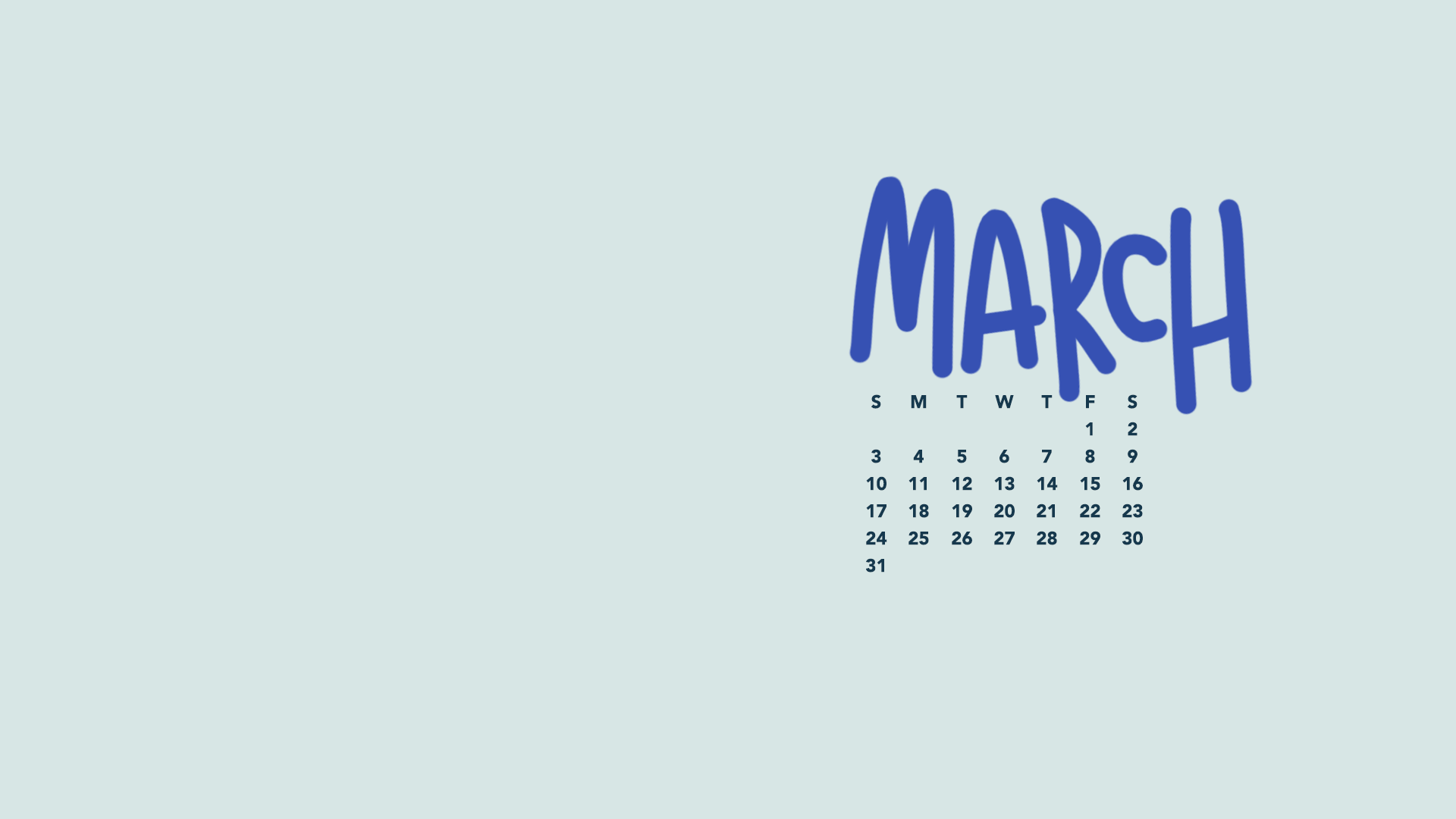 1920x1080 March 2019 Wallpapers & Folder Icons - Whatever Bright Things