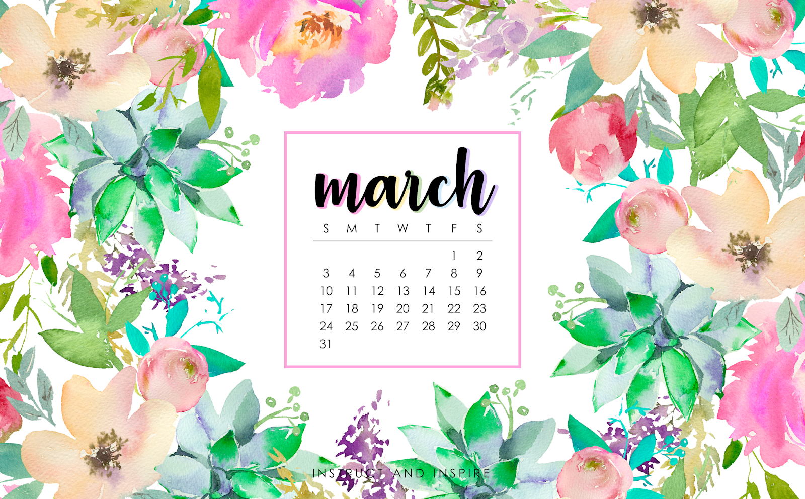 1600x992 March 2019 Wallpapers | Instruct and Inspire