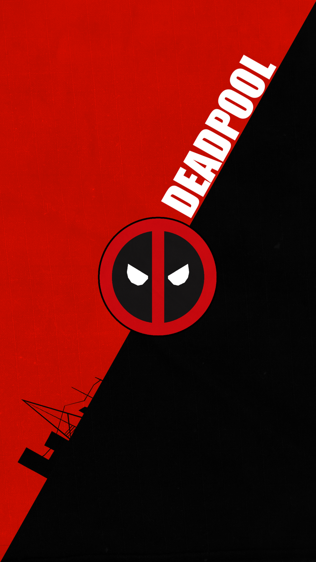 1024x1820 Deadpool Logo Wallpapers
