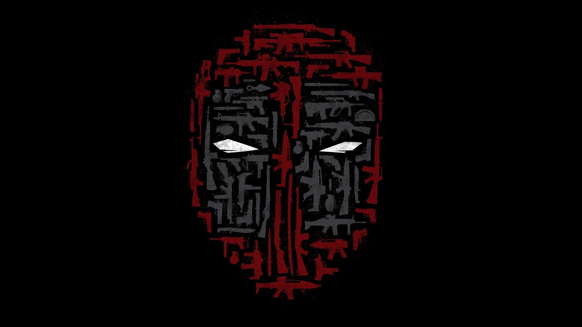 1920x1080 Deadpool, Weapon, Mask, Minimalism, Collage Wallpapers ...