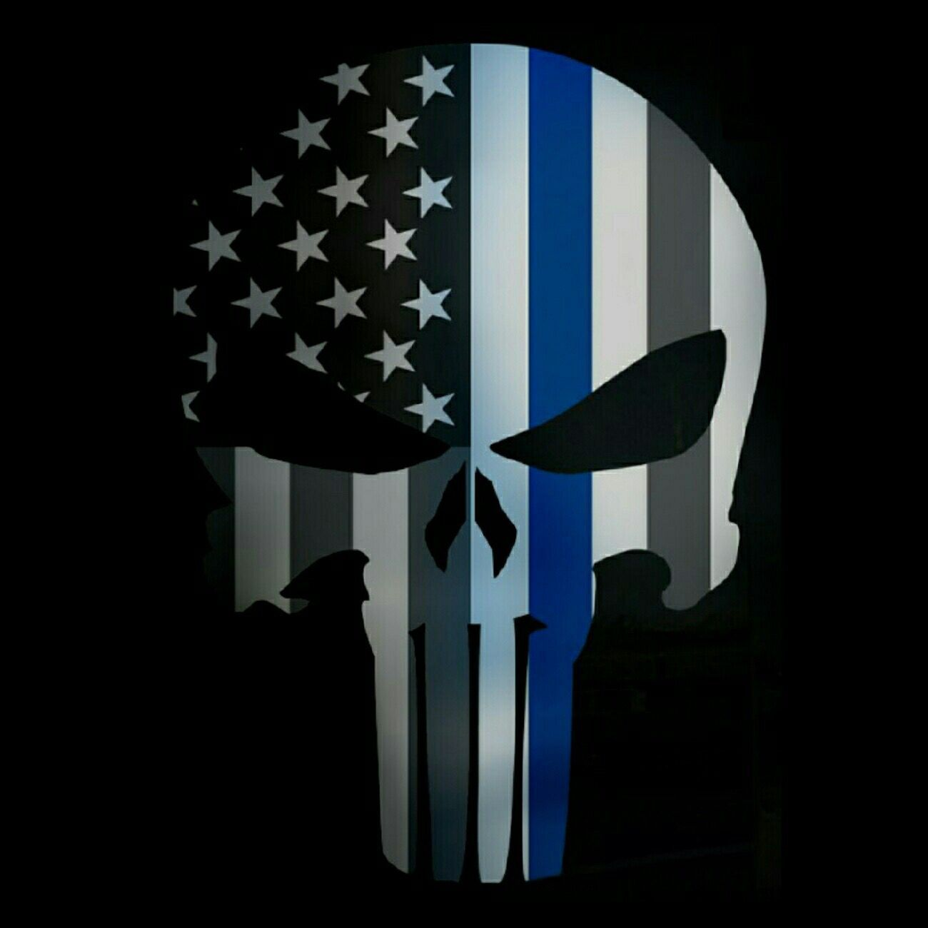 1300x1300 60+ Thin Blue Line Punisher Wallpapers - Download at ...