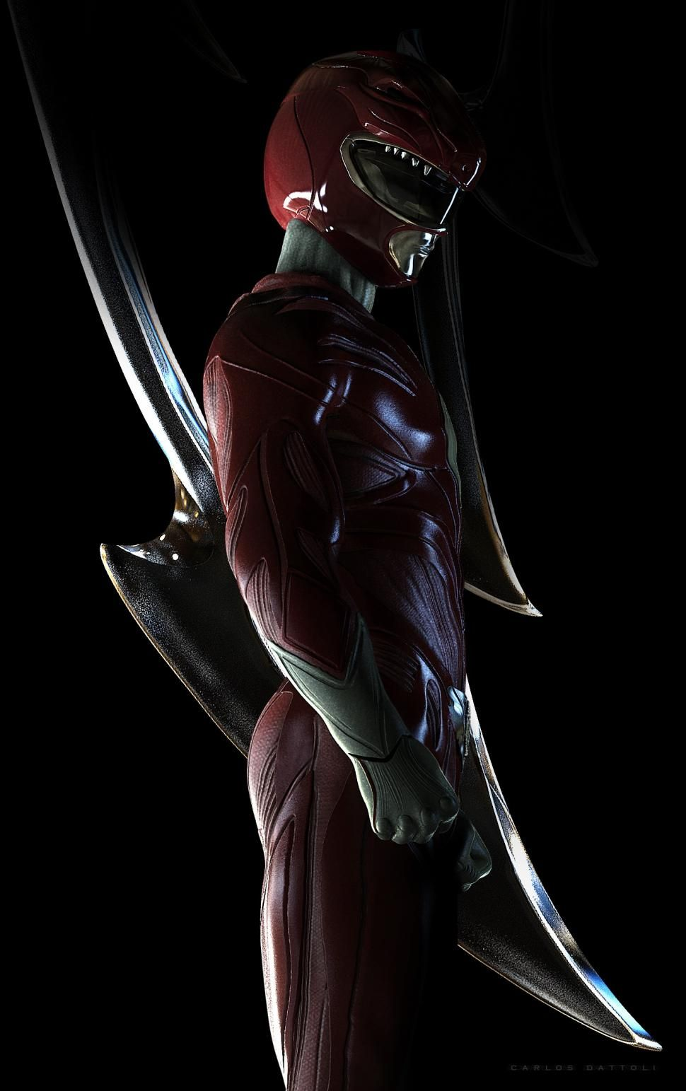 970x1543 Red Power Ranger wallpaper | movies and tv series ...