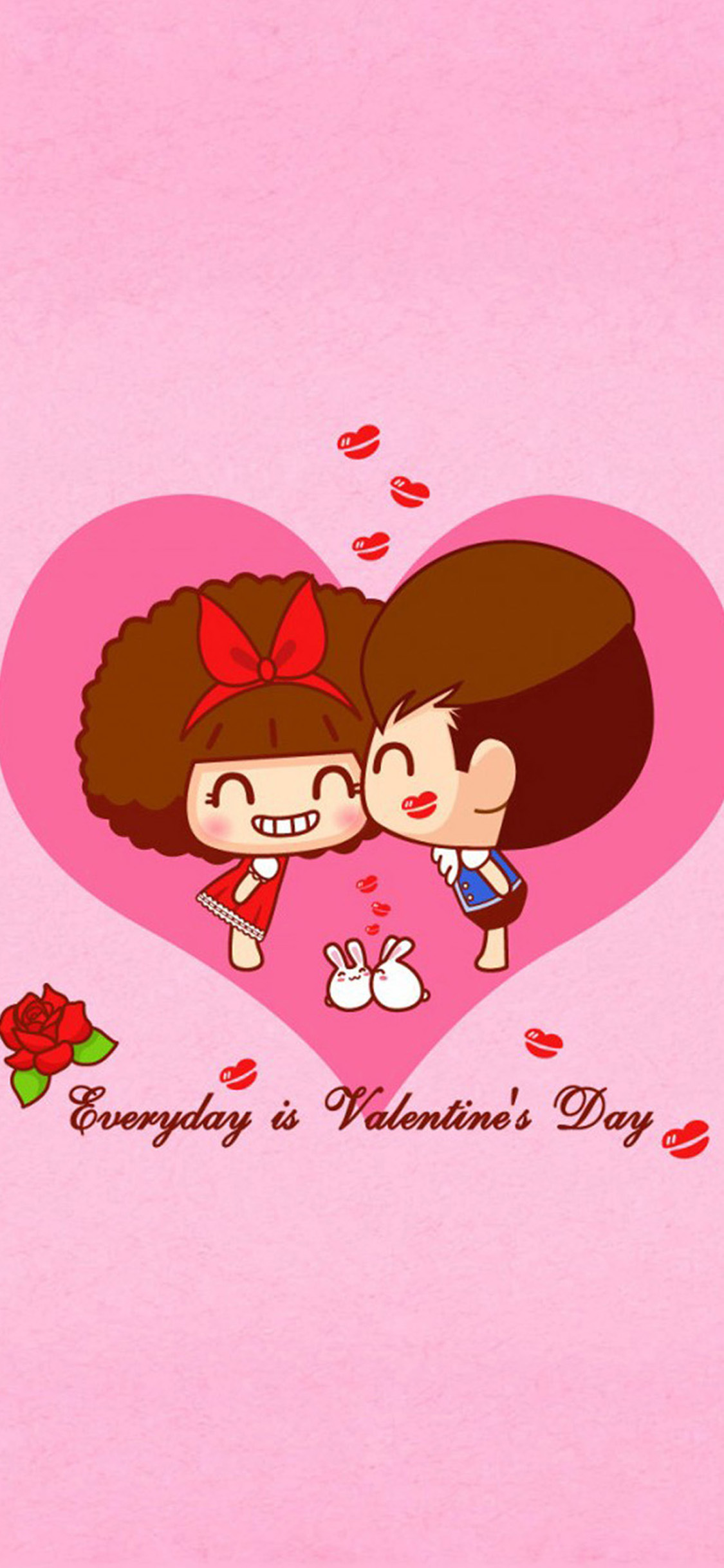 1125x2437 Happy Valentines Day iPhone X2 Wallpapers Download ...