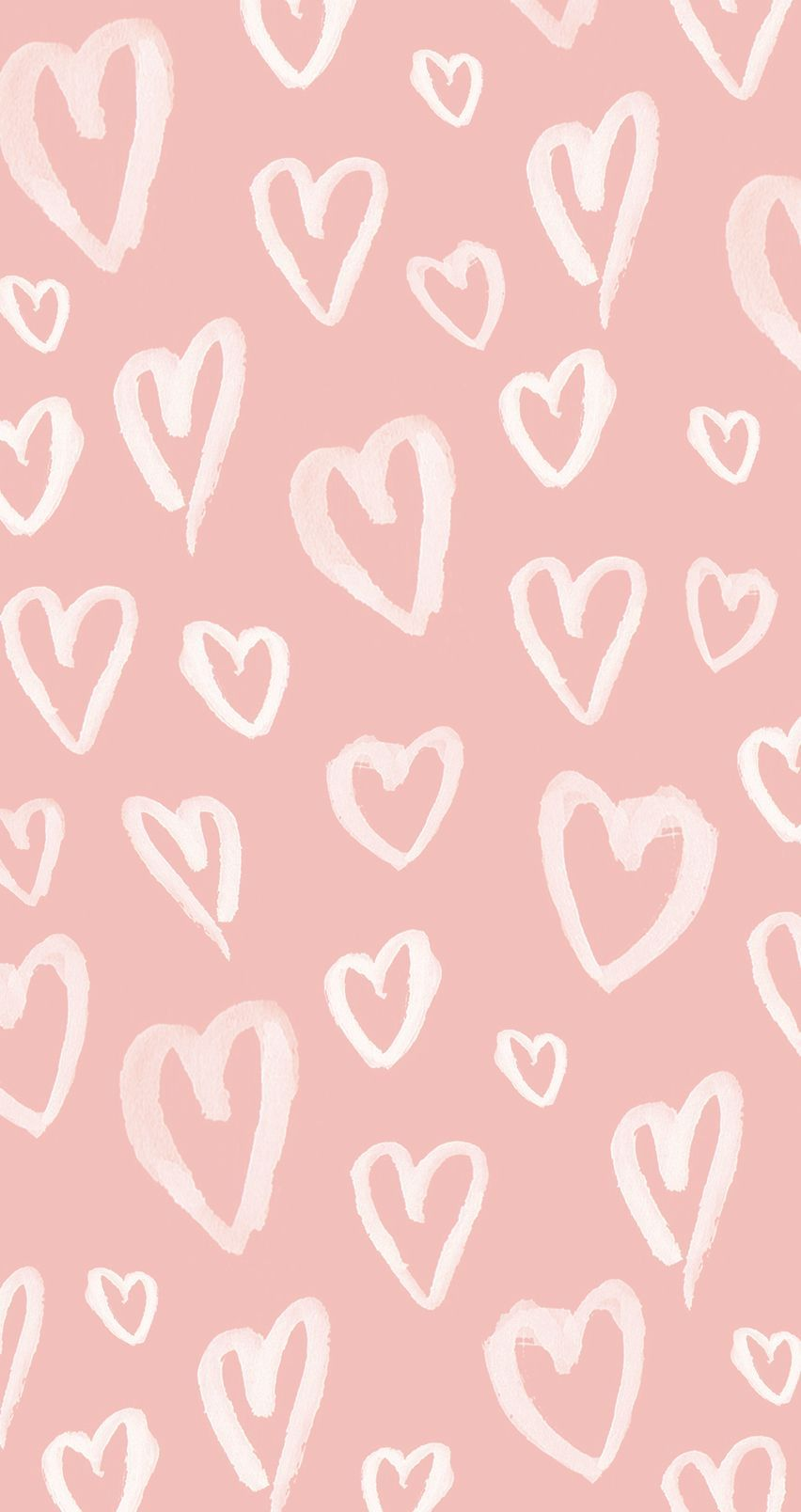852x1608 Beautiful Pastel Pink Hearts Iphone Wallpaper @panpins ...