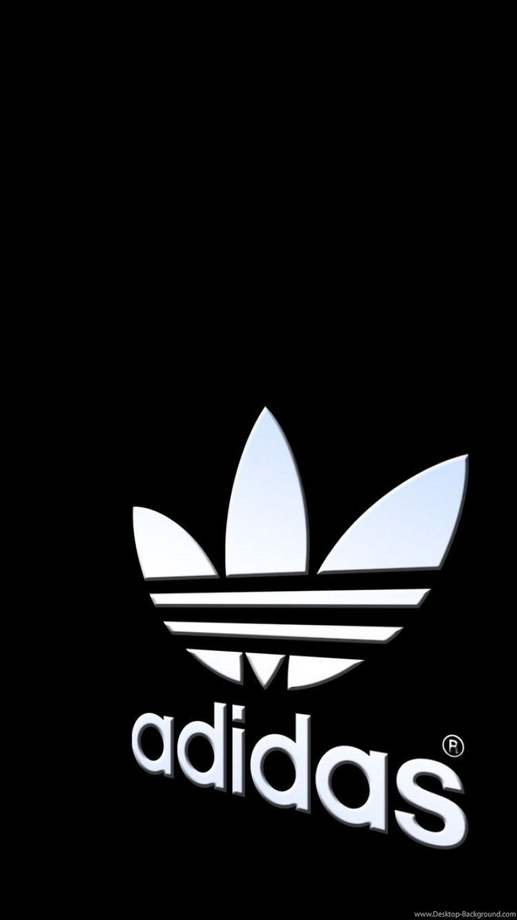 750x1334 Download Wallpapers Adidas, Logo, Black White Iphone ...
