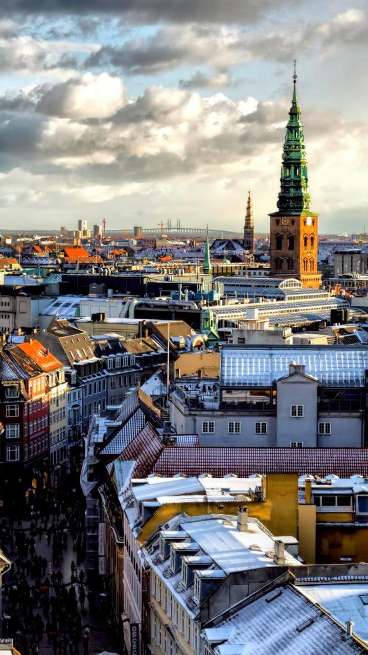 720x1280 Metropolis, Capital City, City, Winter, Copenhagen HD ...