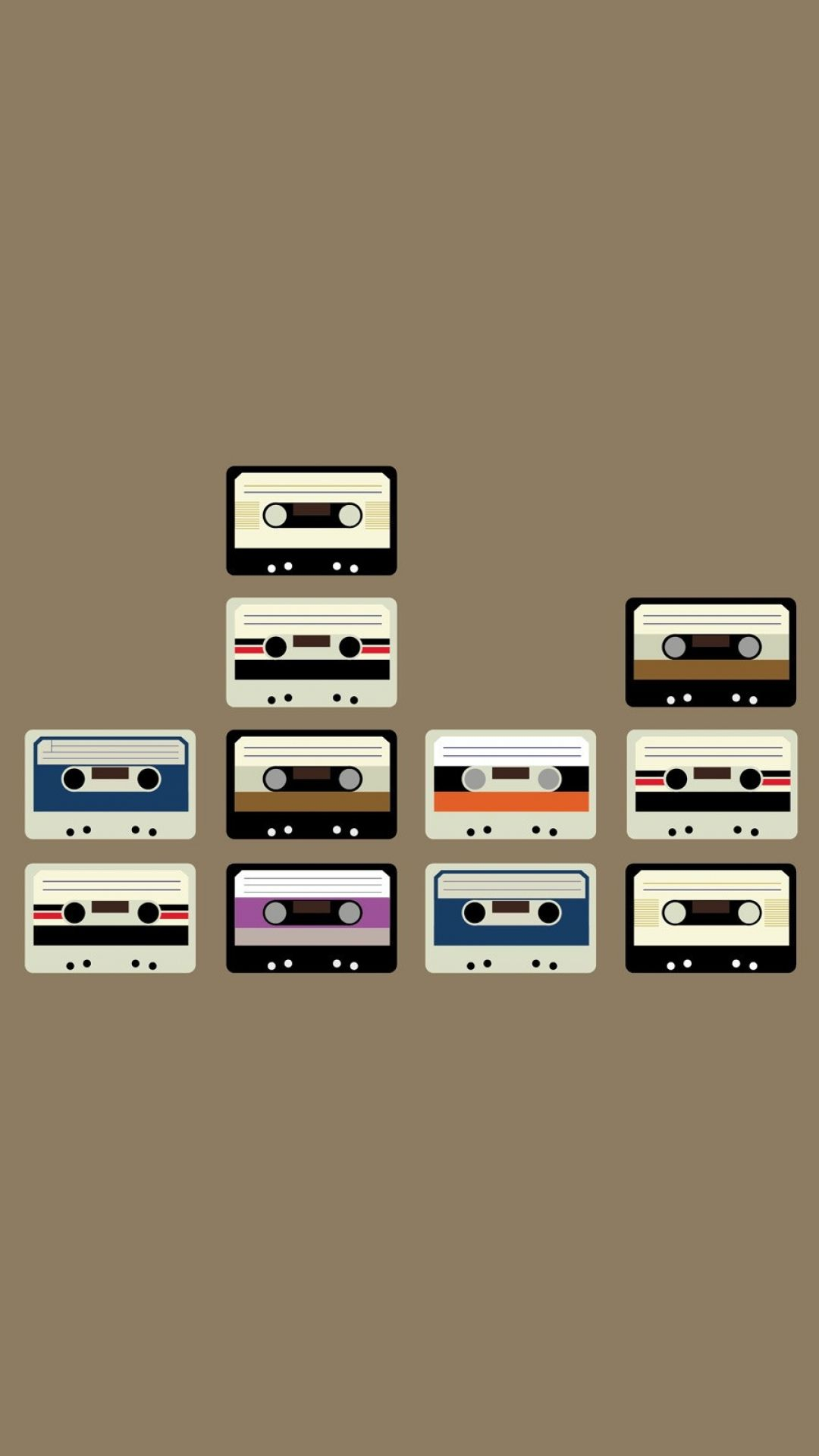 1080x1920 Samsung Galaxy S4 wallpapers Wallpapers: Retro Casette Set ...