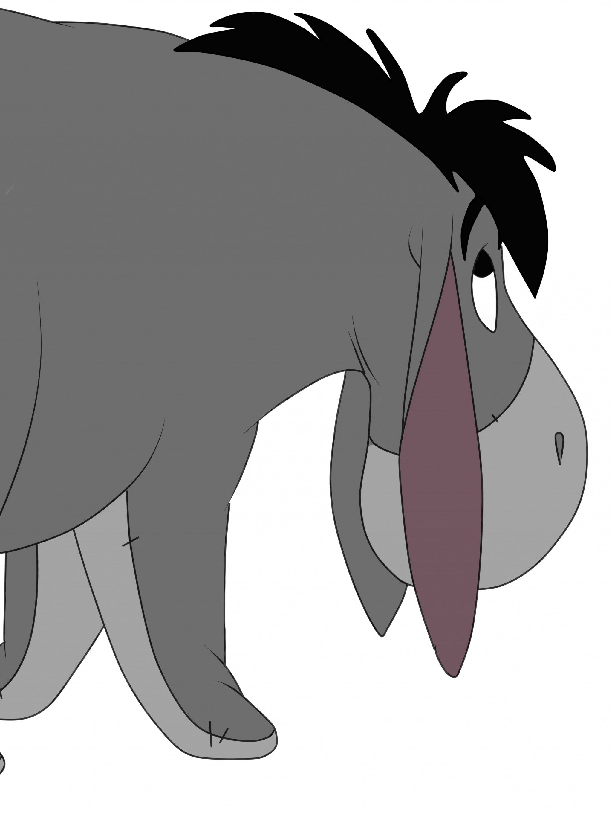 2048x2732 Download Wallpaper 2048x2732 Eeyore cake, Eeyore disney ears ...