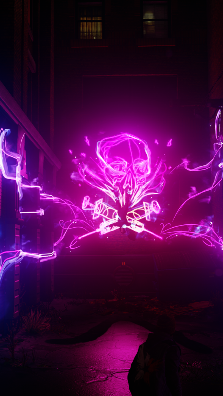 750x1334 Download 750x1334 Infamous: Second Son, Back Street, Neon ...