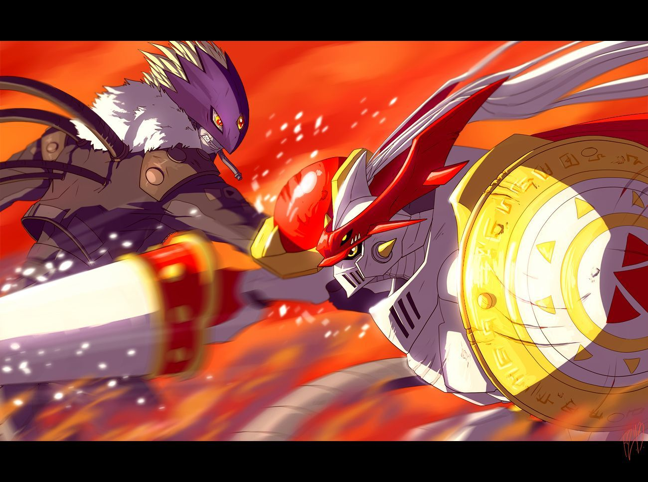 1300x966 The knight and the demon by TheNightmareDragon.deviantart ...