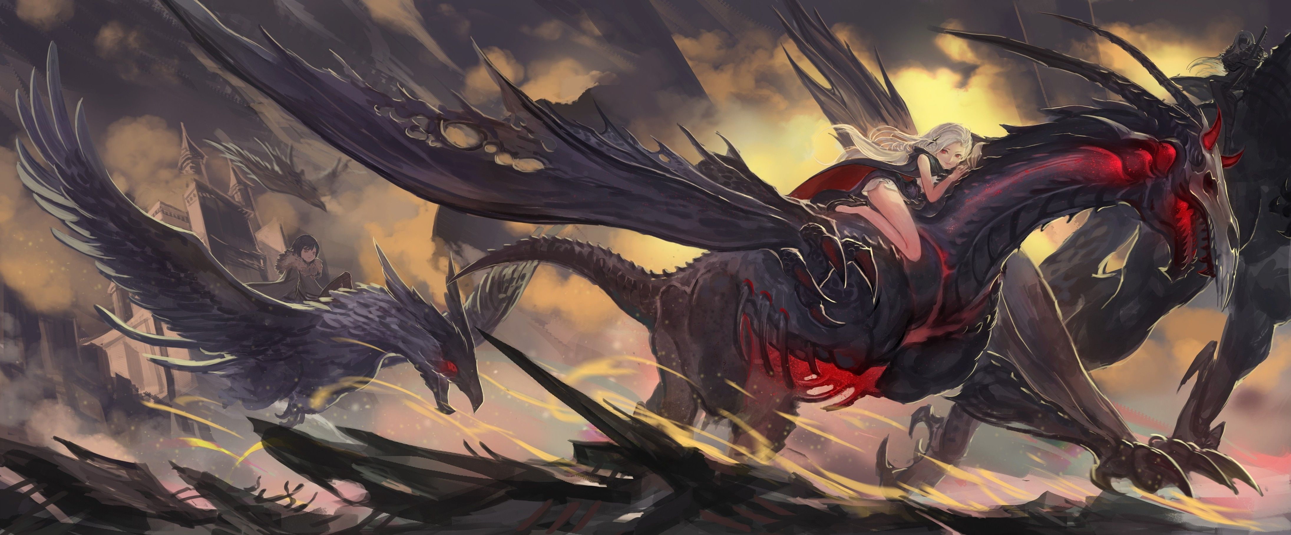 4383x1816 Pixiv Fantasia Fallen Kings Full HD Wallpaper and Background Image ...