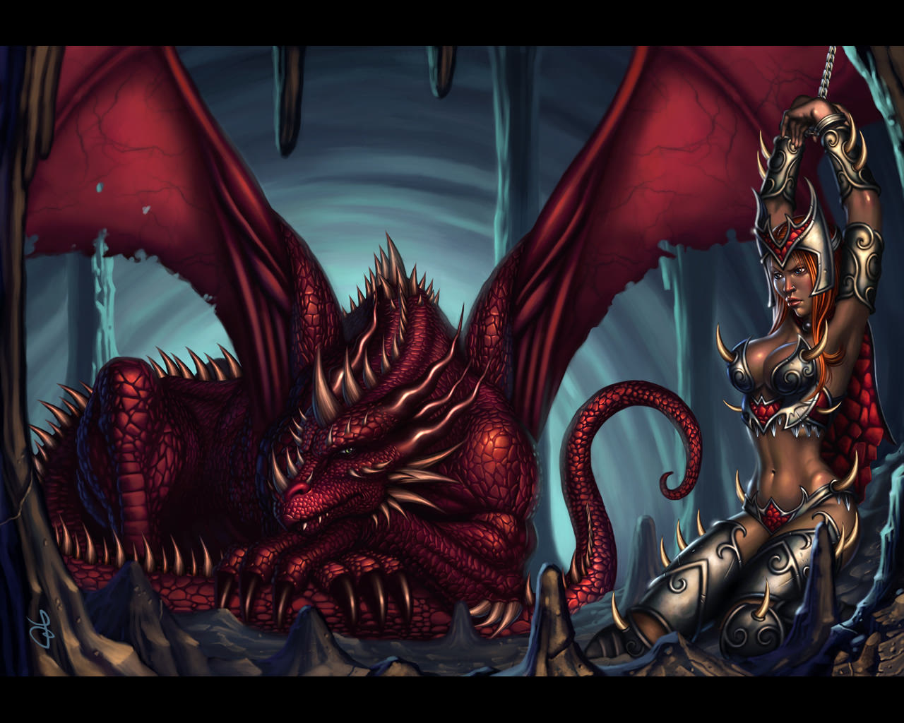 1280x1024 Girl Slave wallpaper from Dragons wallpapers