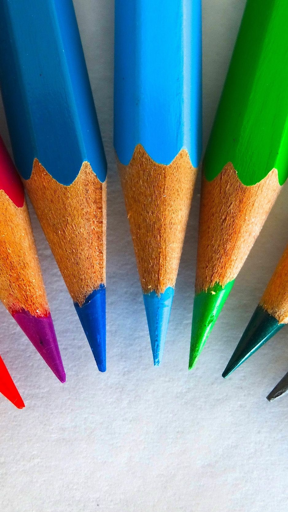 938x1668 Download wallpaper 938x1668 colored pencils, sharpened ...