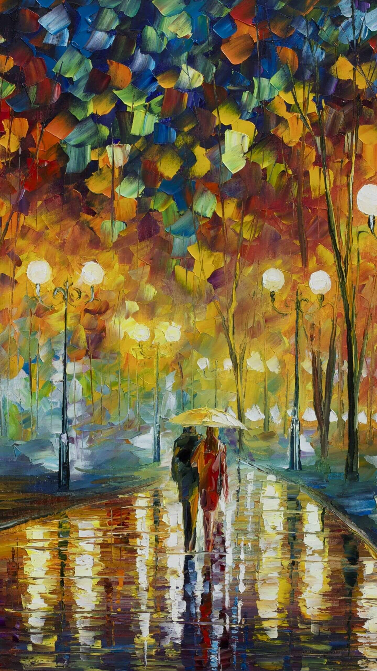 1439x2559 Cute Couple Oil Painting iPhone Wallpaper | All Wallpapers ...