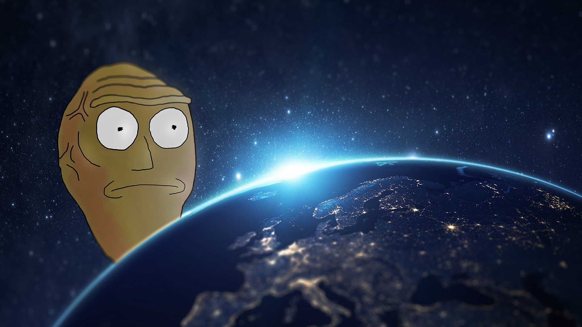 1920x1080 Rick and Morty, Cartoon, Earth HD Wallpapers / Desktop and ...