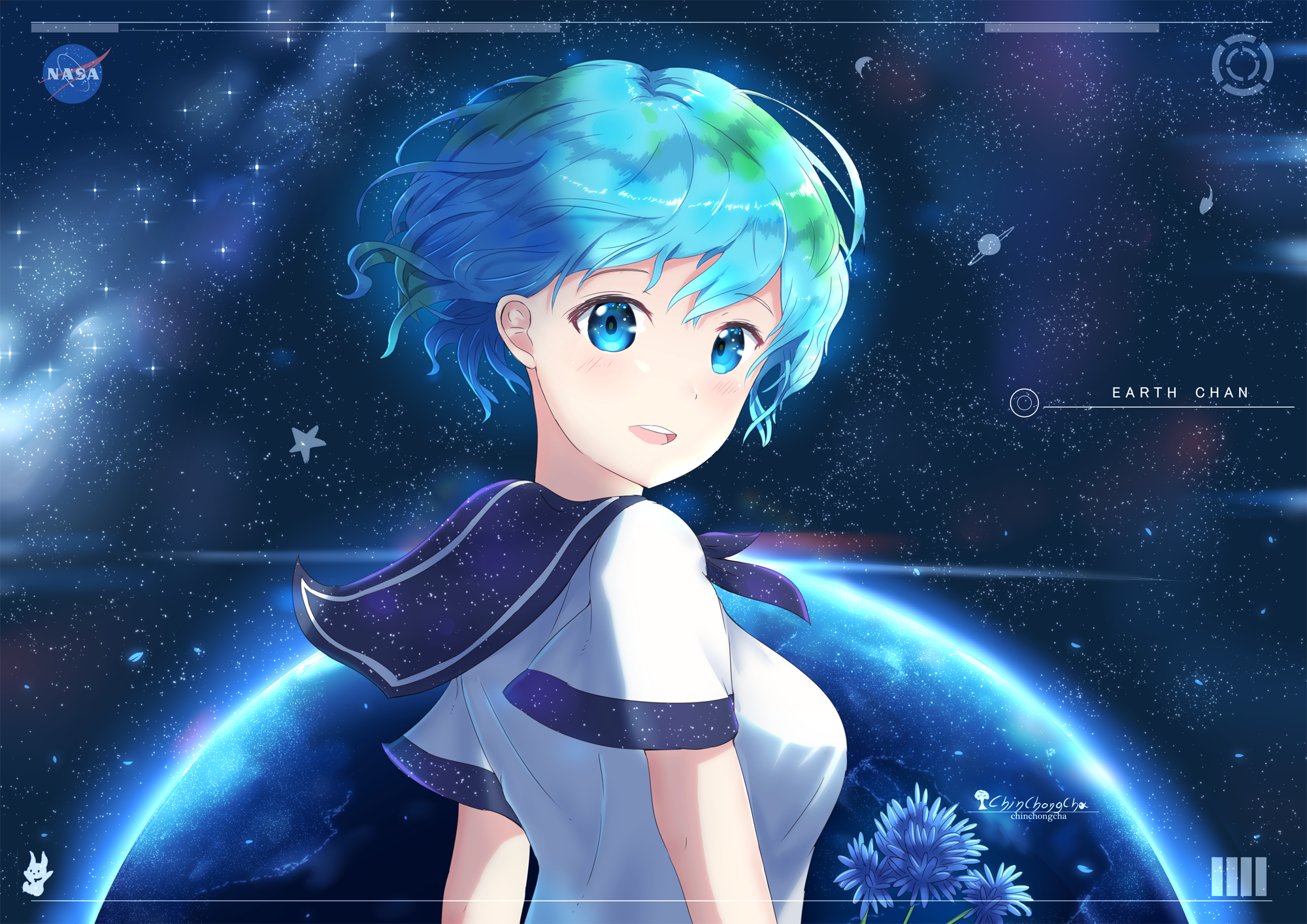 2000x1414 13 Earth-Chan HD Wallpapers | Background Images - Wallpaper ...