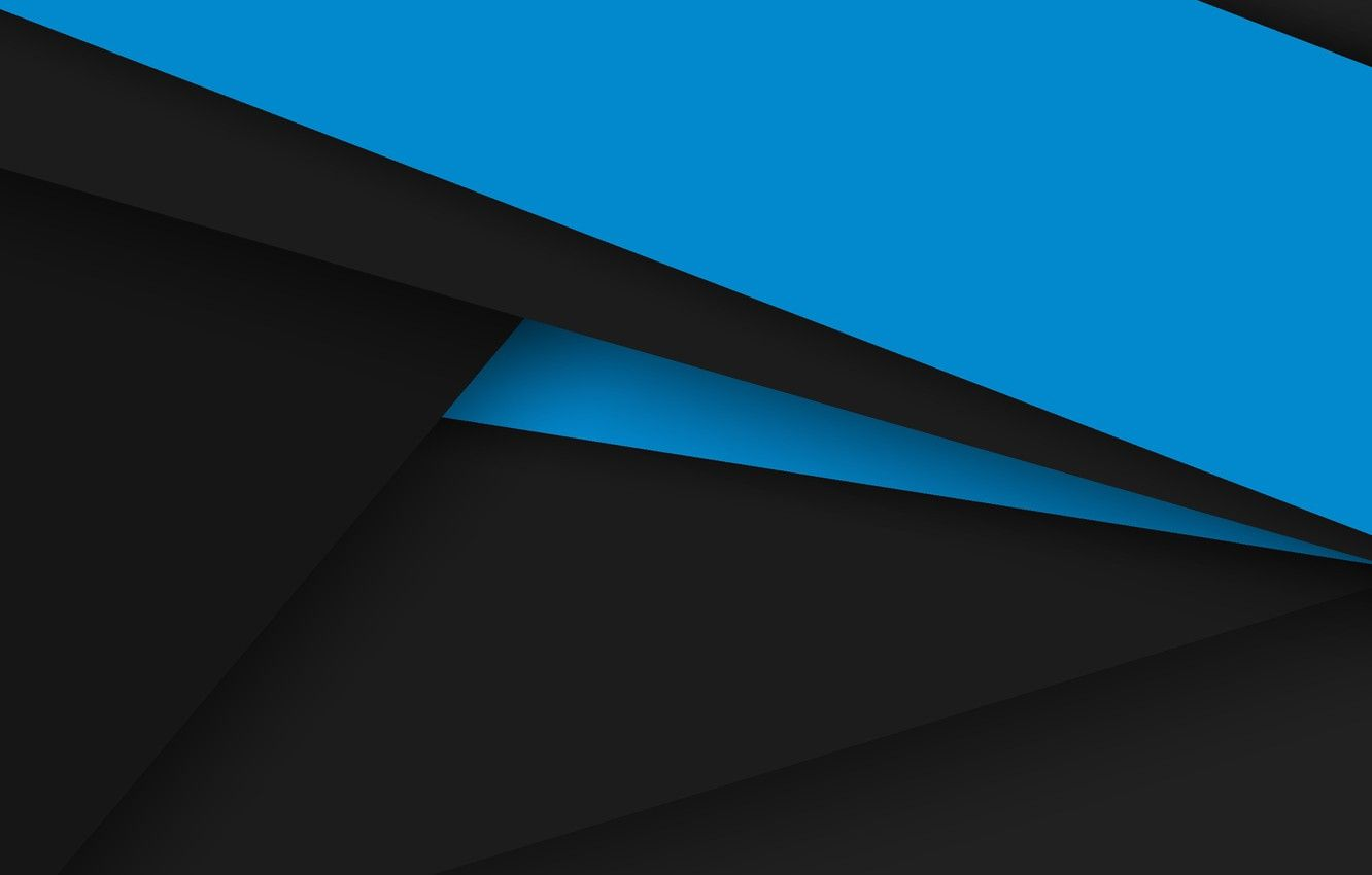 1332x850 Wallpaper line, blue, black, Android, geometry images for ...