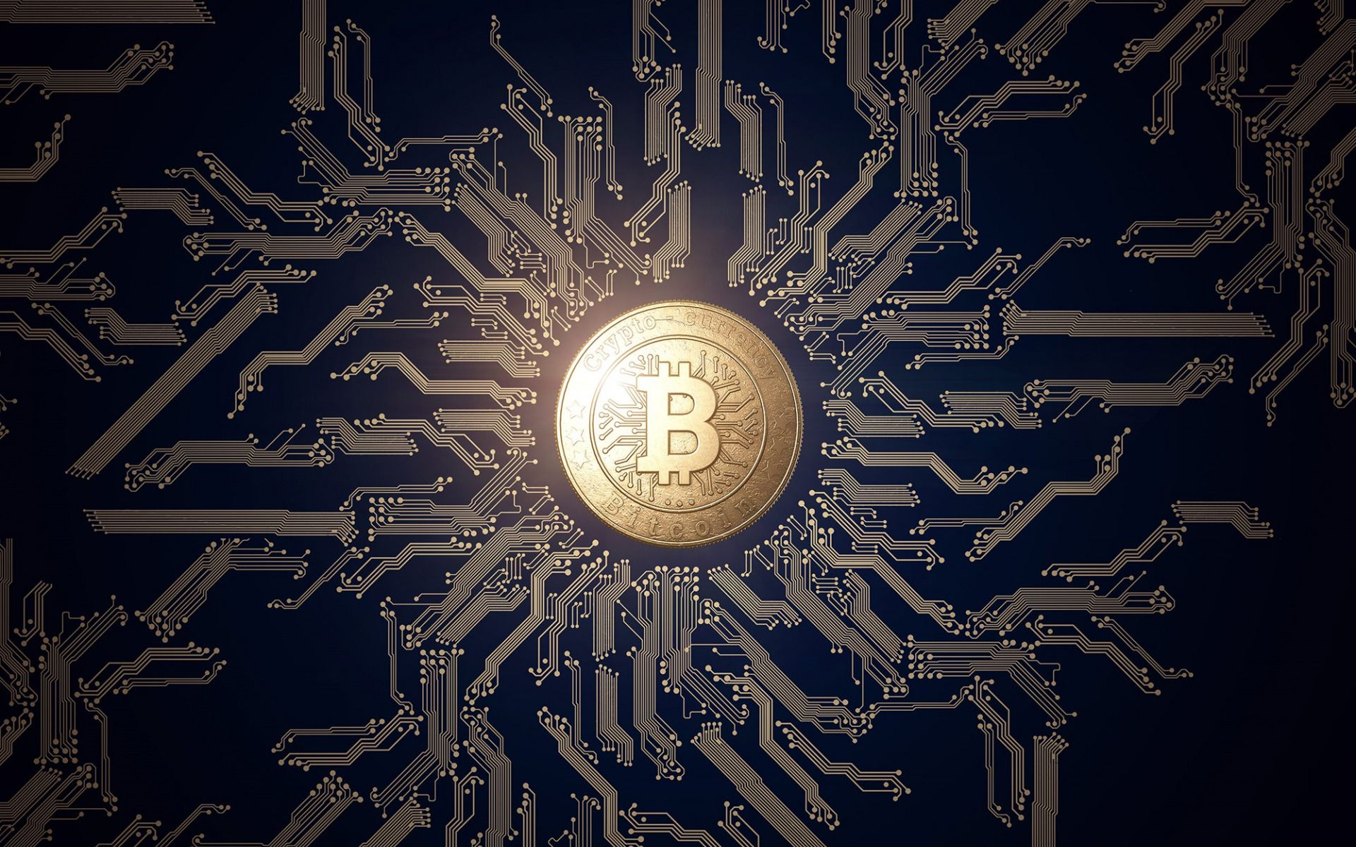 1920x1200 Download wallpapers bitcoin, crypto currency sign, blue ...