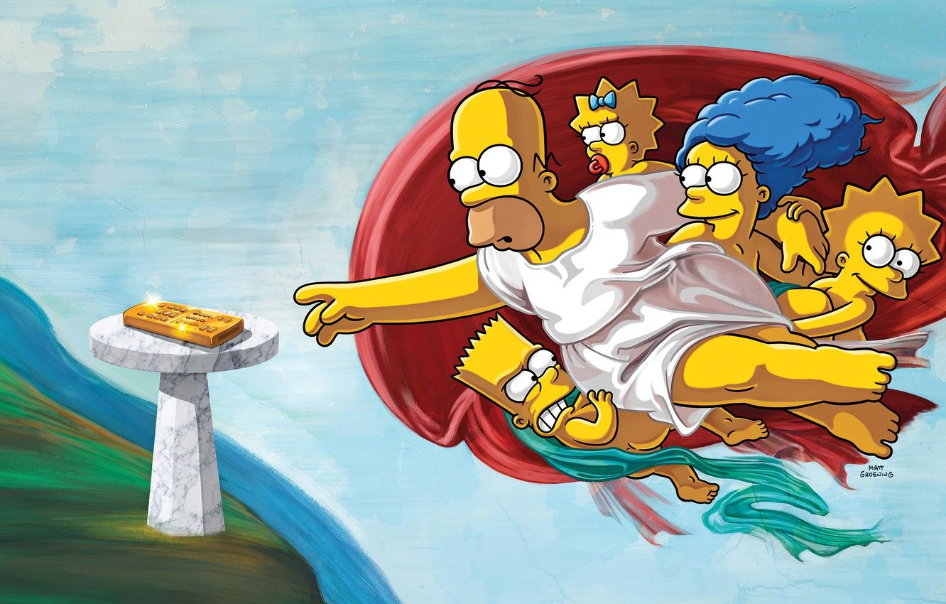 1332x850 Wallpaper The simpsons, Figure, Picture, Homer, Maggie ...
