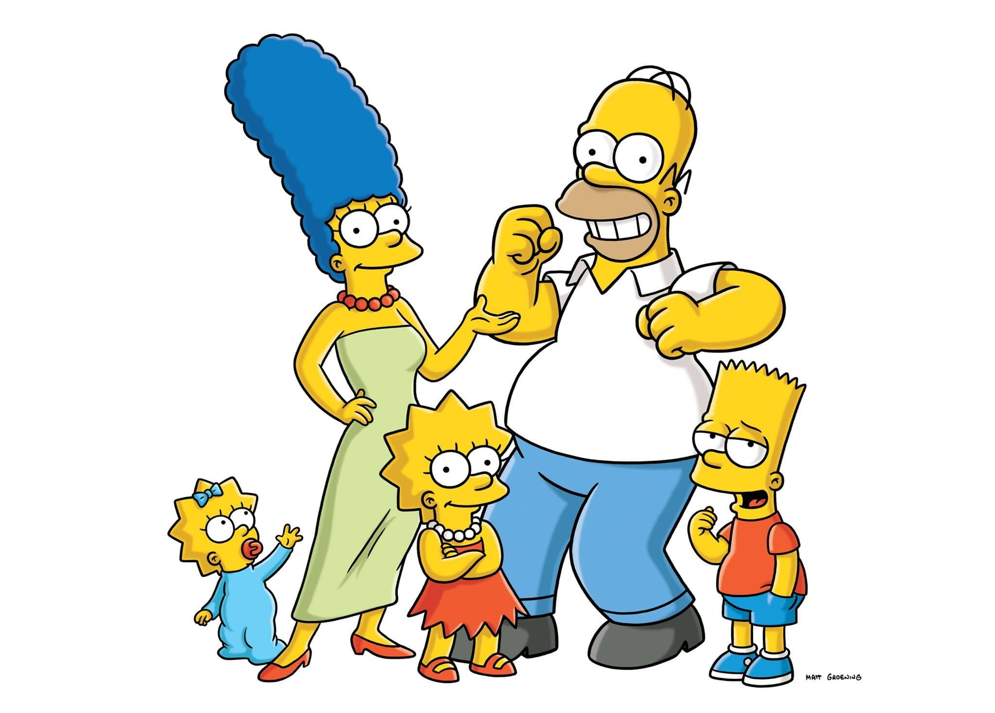 2048x1469 The Simpson Family illustration, The Simpsons, Maggie ...