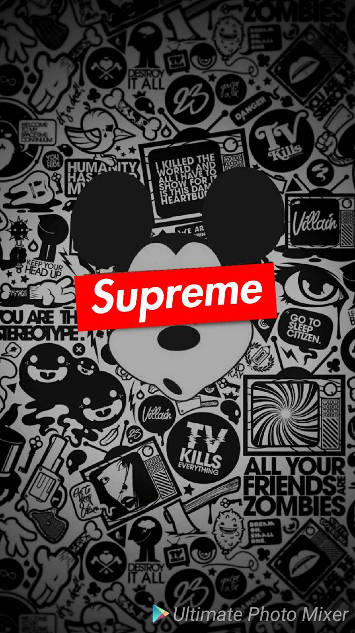 719x1280 Supreme Mickey Mouse Wallpapers