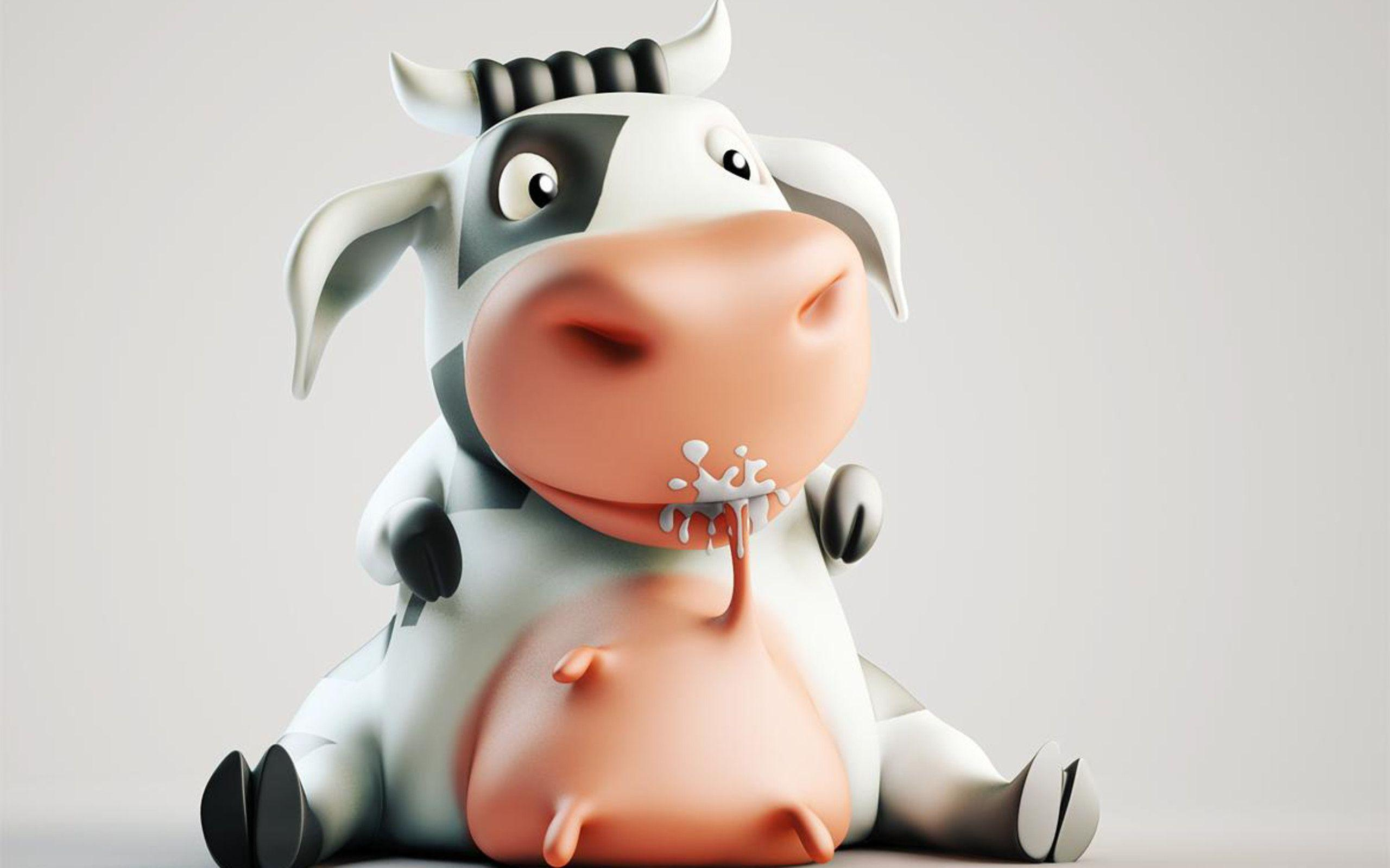 2560x1600 Cute Cow Wallpapers