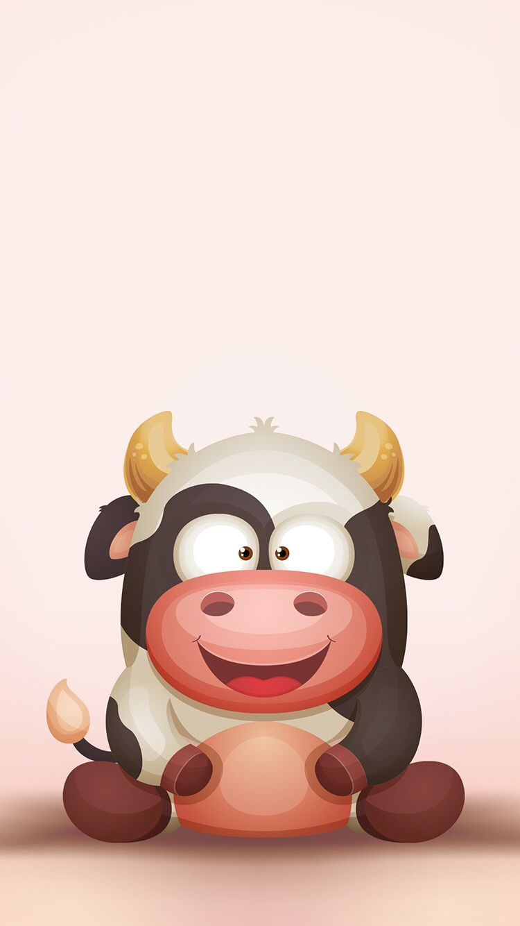 750x1334 Pin by Andreea Caliman on W in 2019 | Cow wallpaper, Cow ...