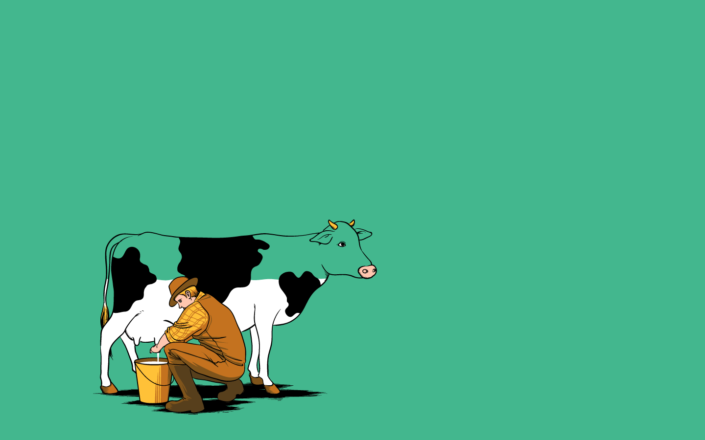 1440x900 Cute Cow Wallpapers
