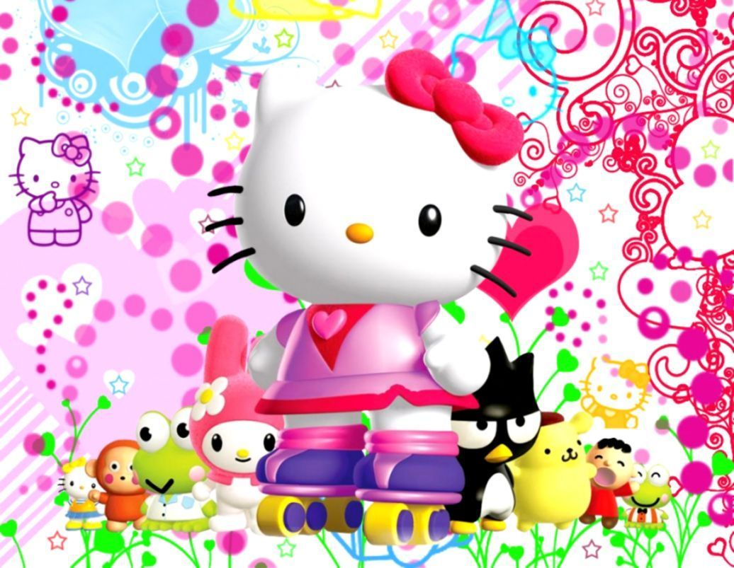 1036x803 Hello Kitty 3D Wallpapers