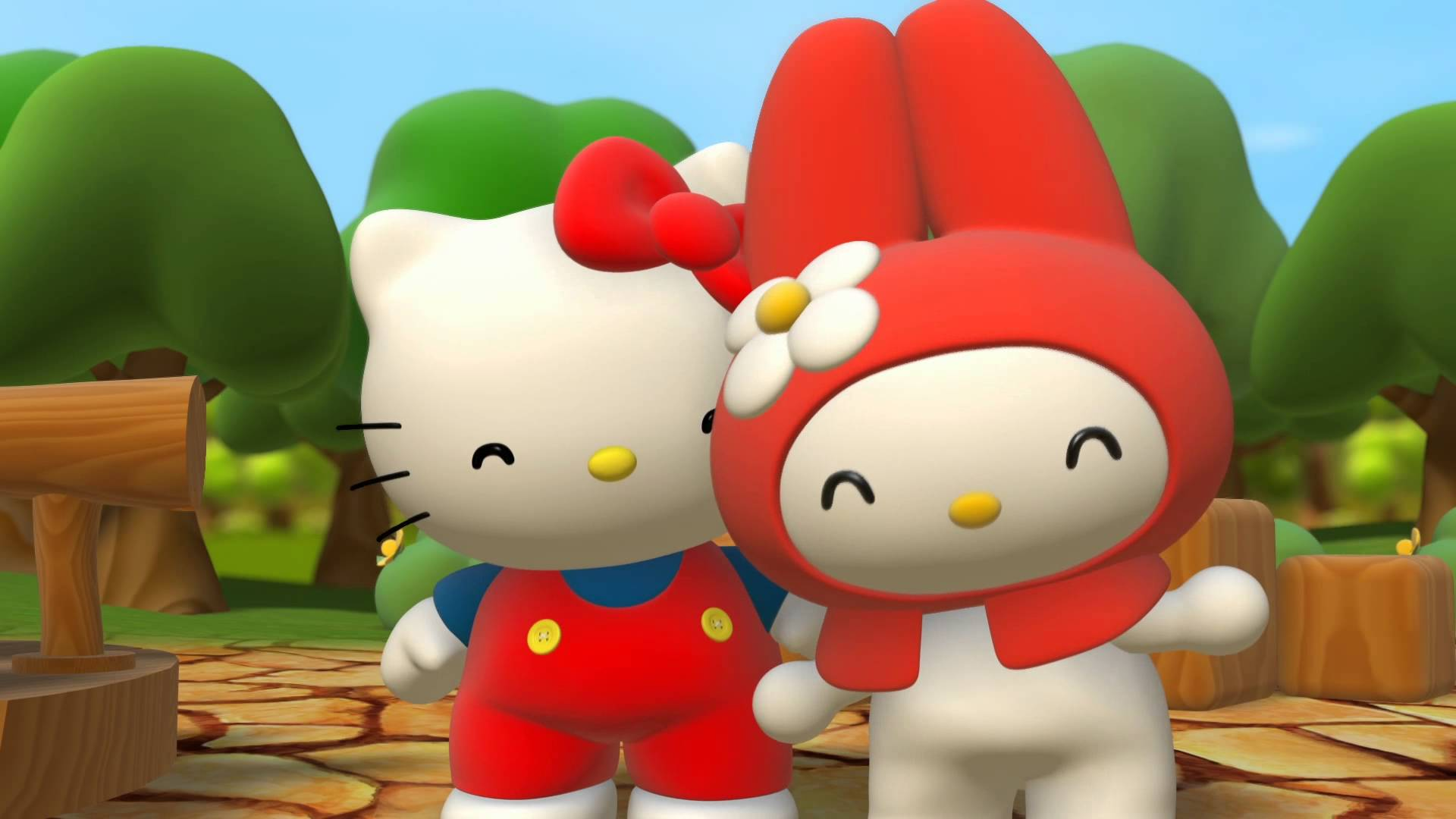 1920x1080 Hello Kitty 3D Wallpapers