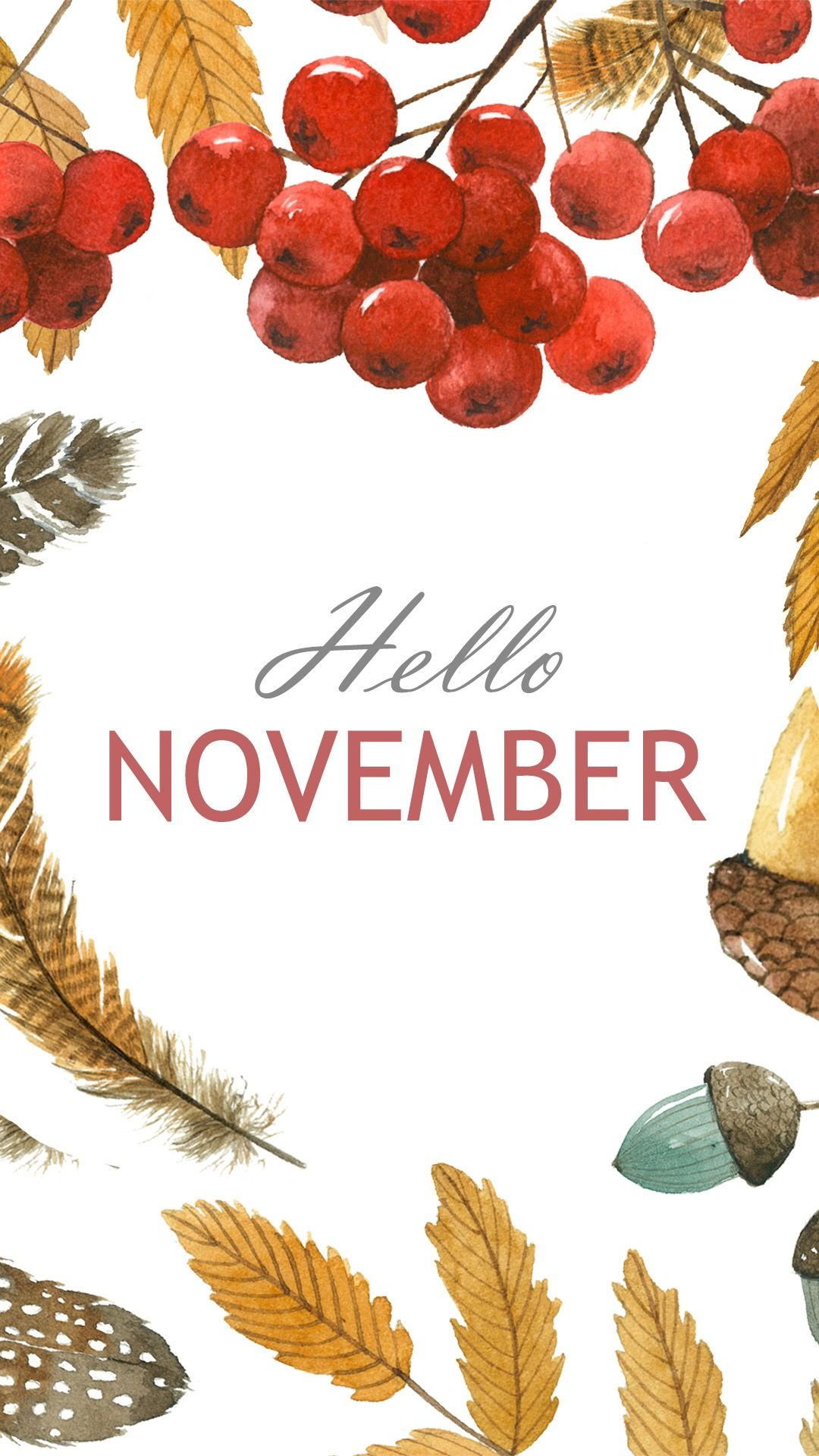 1080x1920 Hello November | Backgroundsss in 2019 | Iphone wallpaper ...