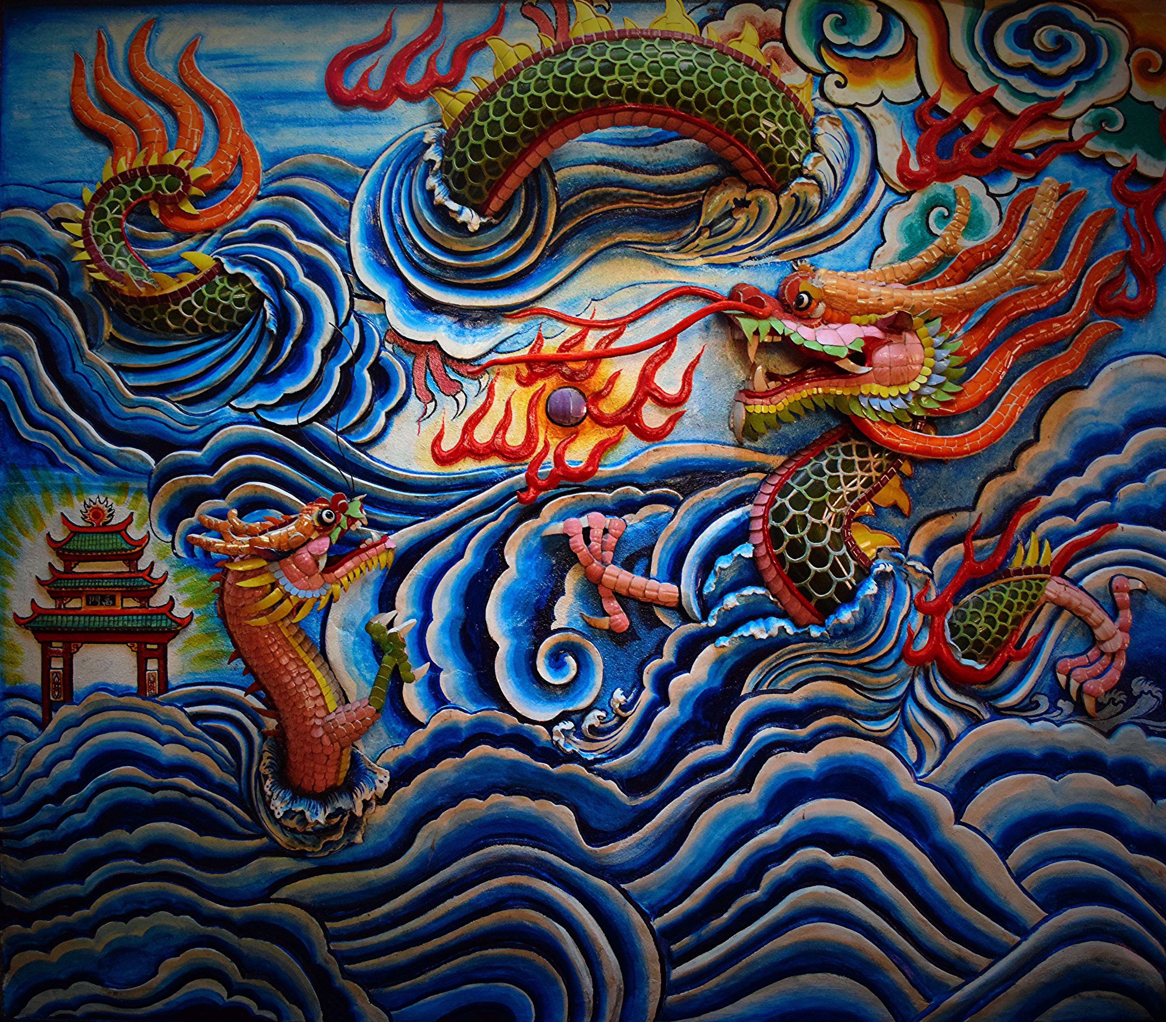 3840x3366 3030327 art, chinese, dragons, sculpture 4k wallpaper and ...