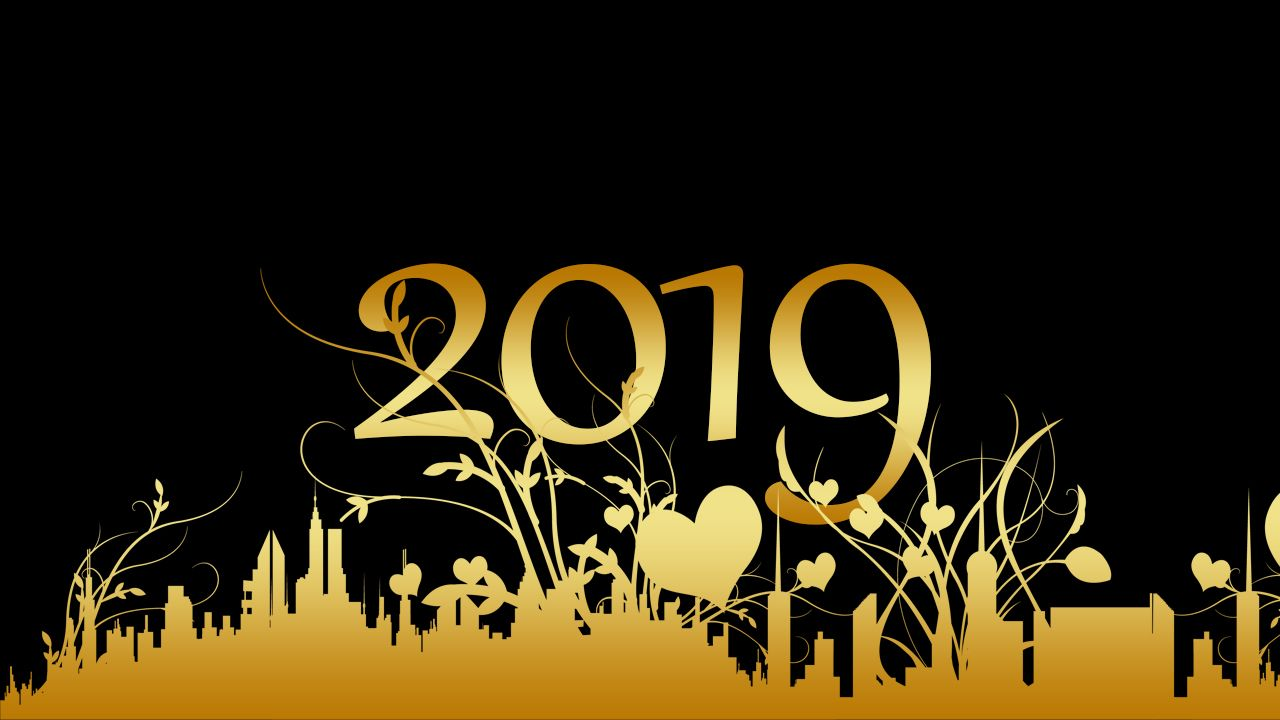 1280x720 New Year 2019 Wallpapers