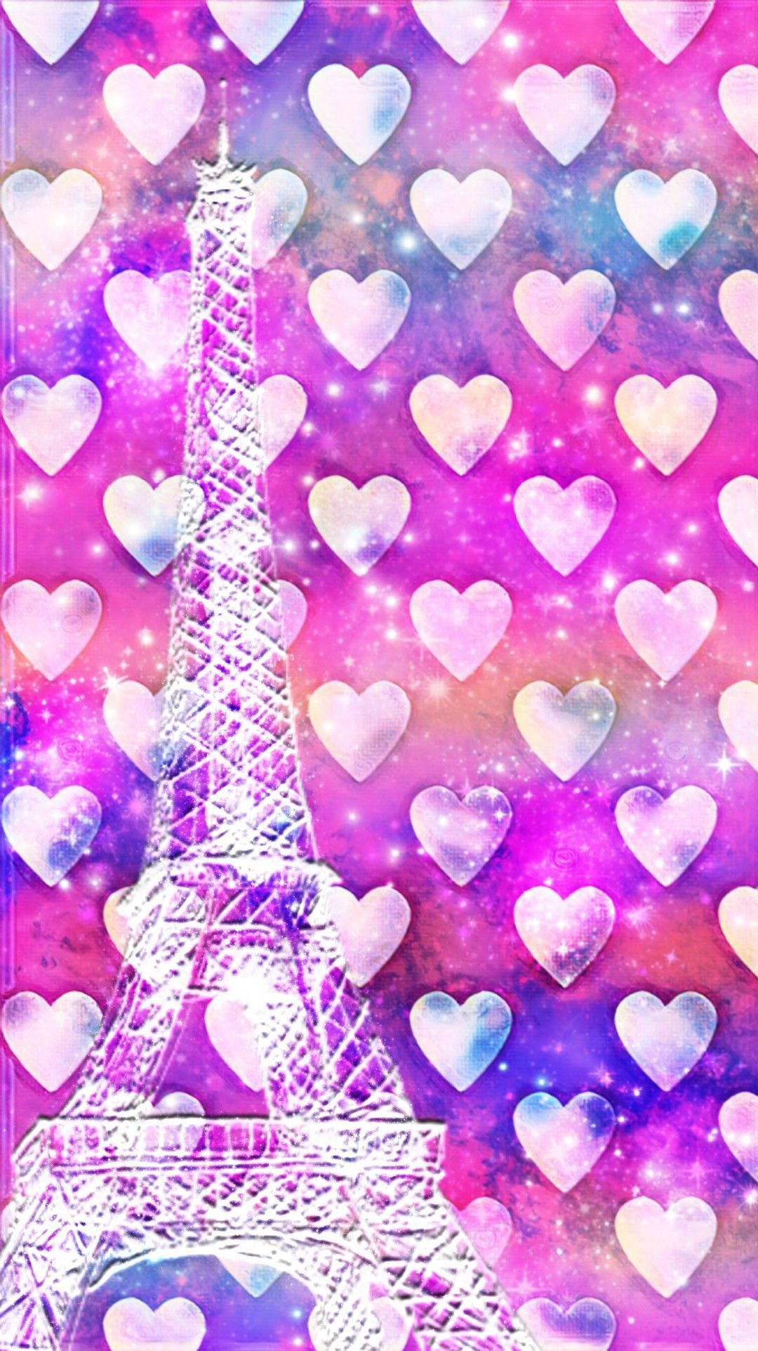 1080x1923 Lovely Hearts Paris, made by me #patterns #colorful #glitter ...