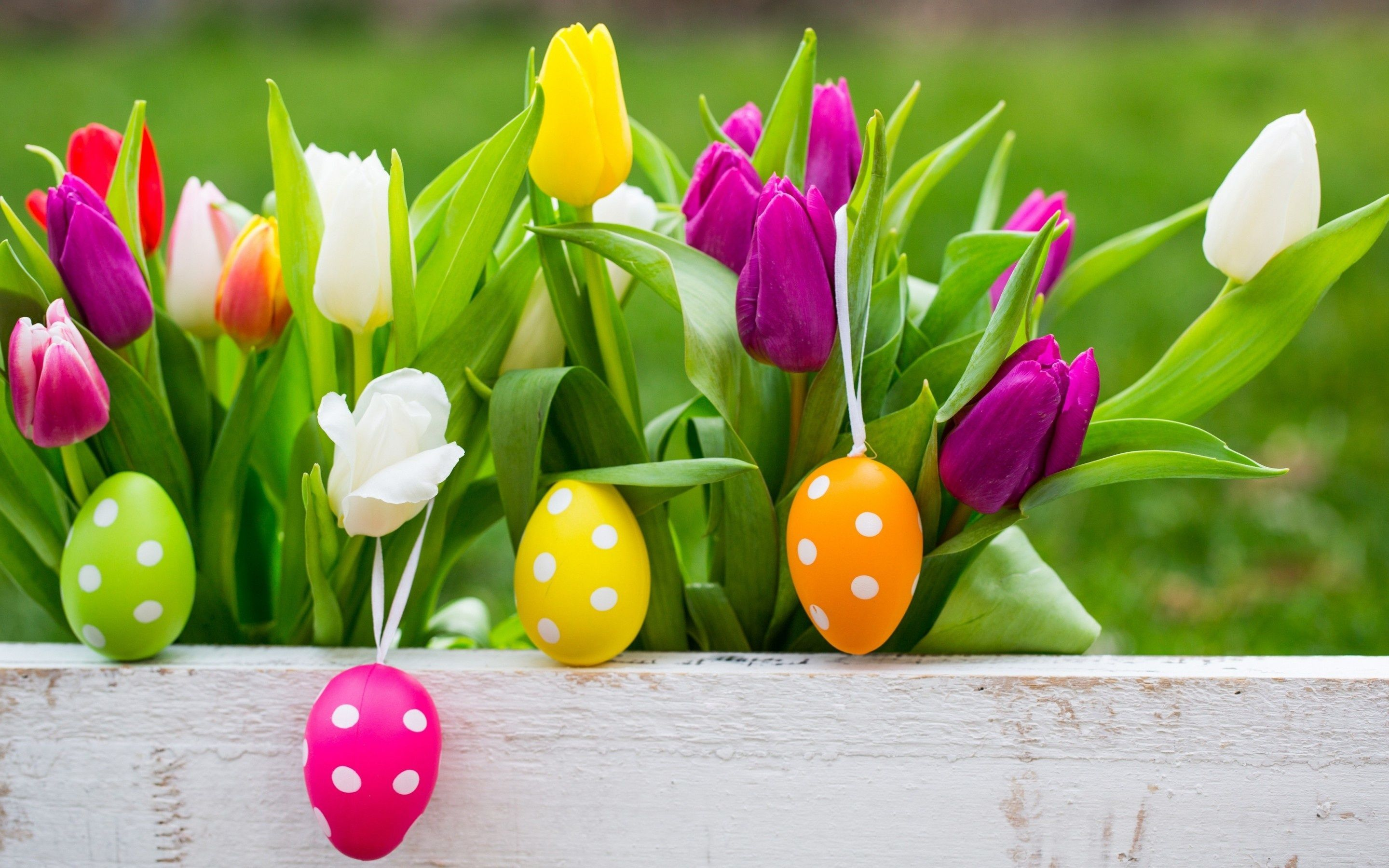 2880x1800 Easter Eggs On Flowers Background Wallpapers - 2880x1800 ...