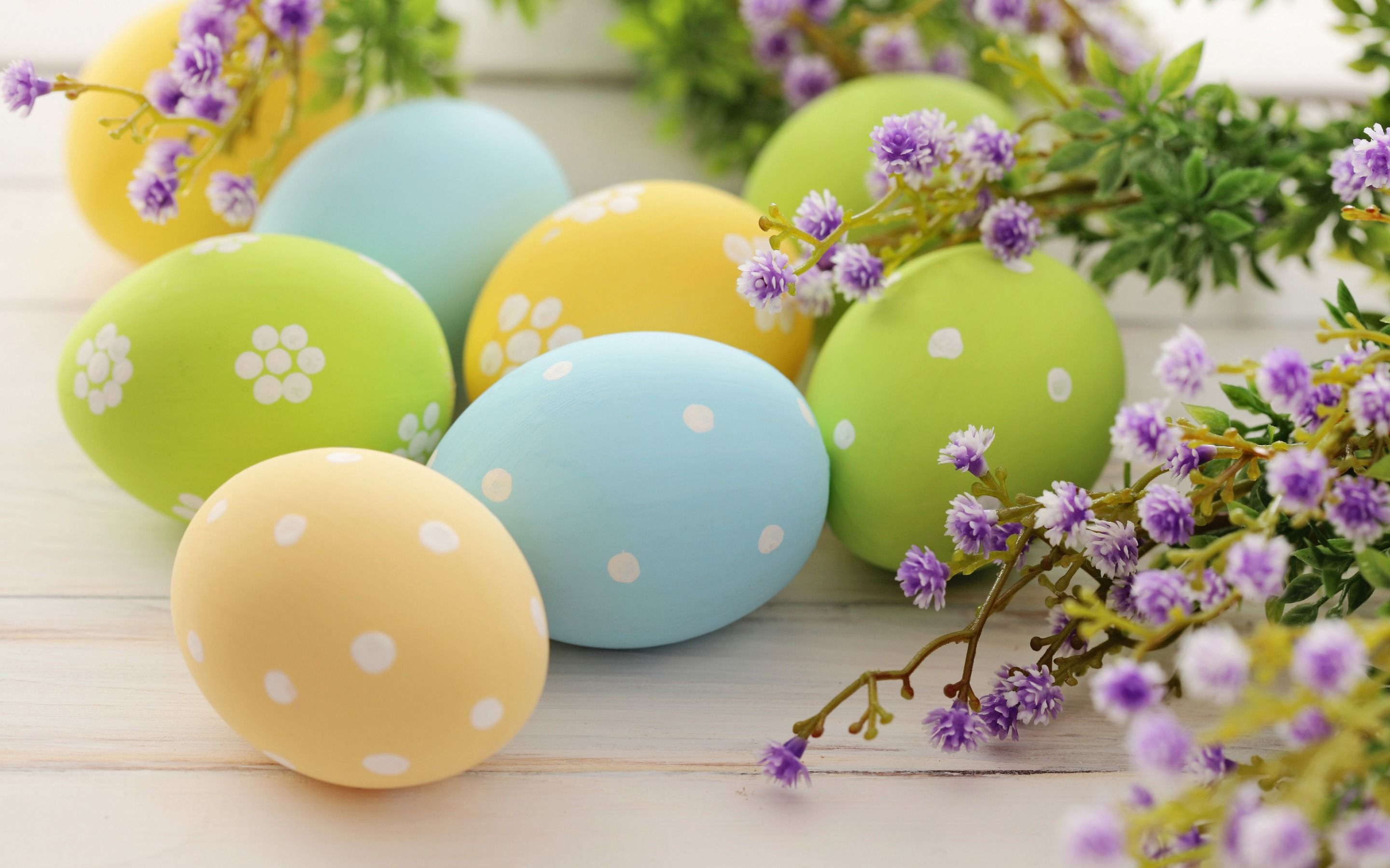2880x1800 Download wallpapers Easter eggs, colored eggs, spring ...
