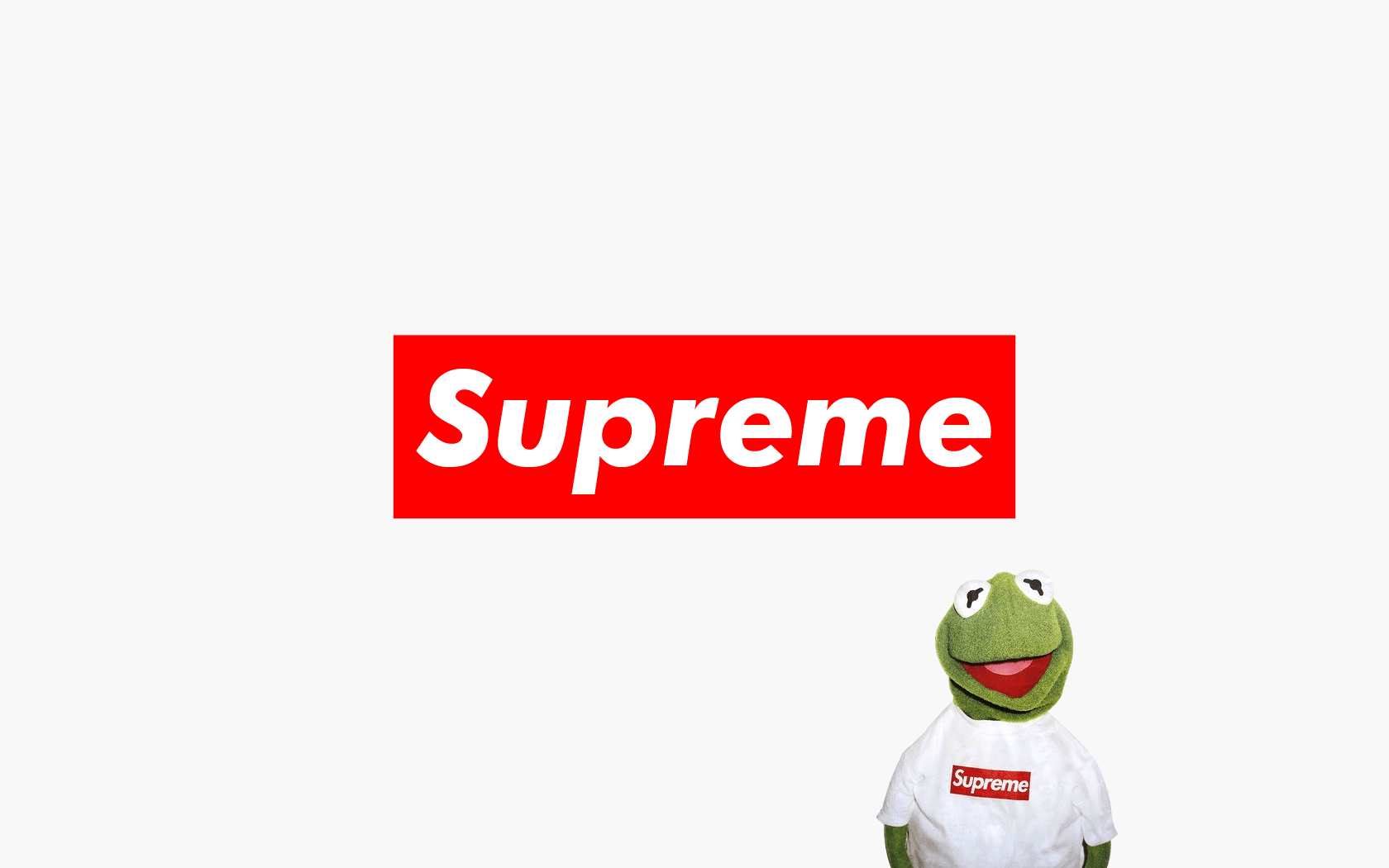 1680x1050 kermit supreme | 壁紙 | Pinterest | Kermit, Supreme and Supreme ...