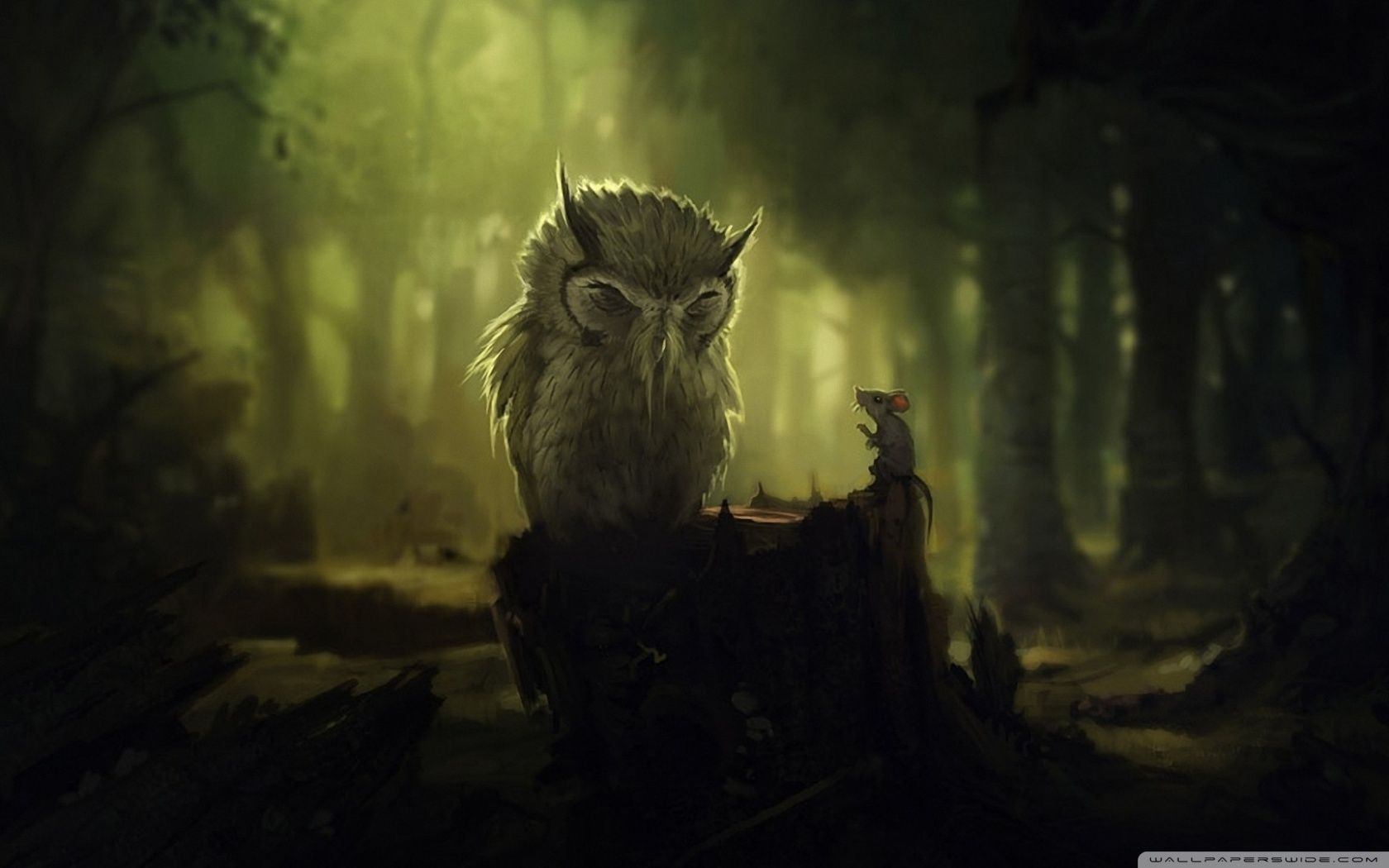 1680x1050 Fantasy Owl Wallpapers and Background Images - stmed.net