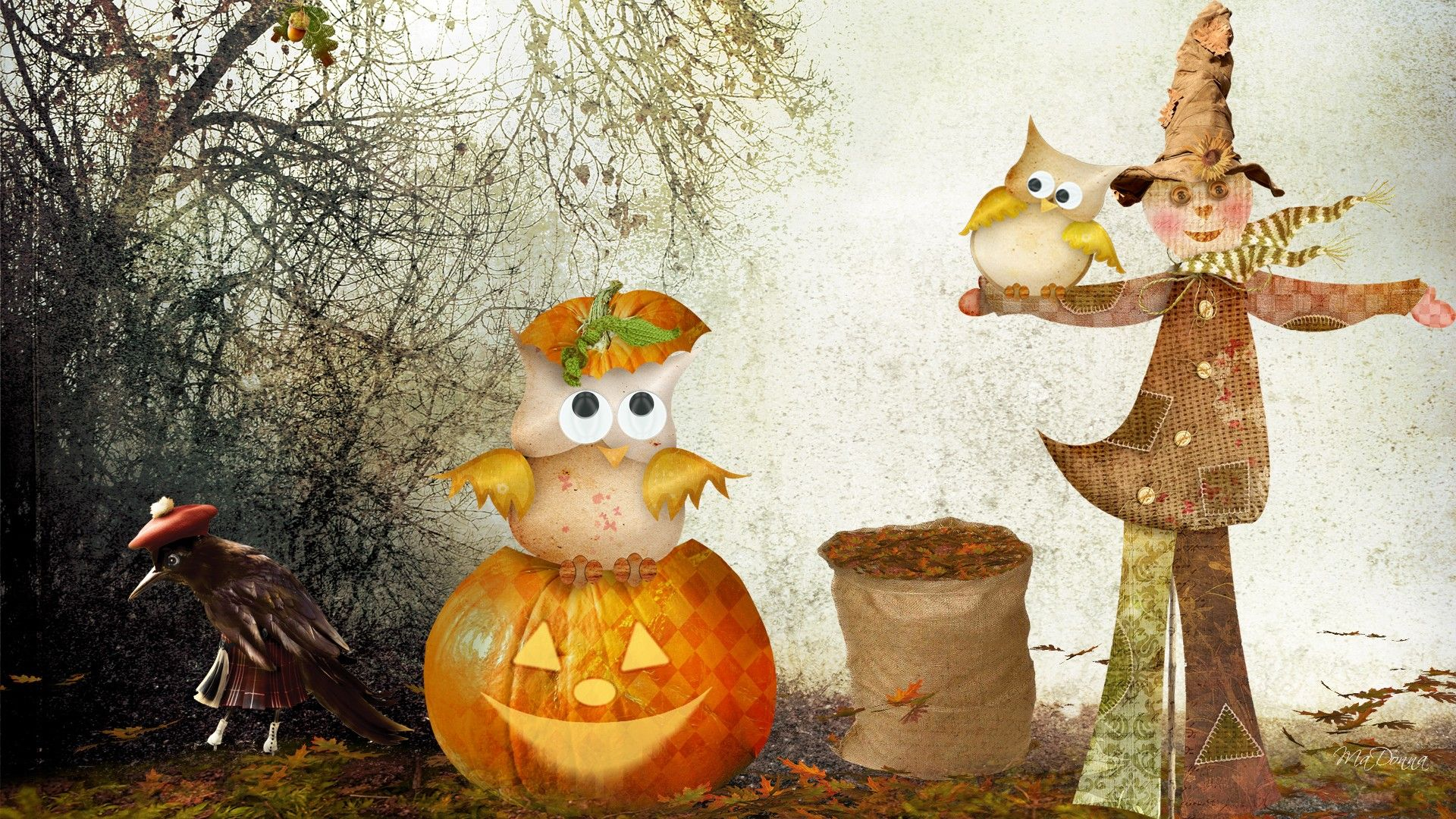 1920x1080 Halloween Pumpkin Backgrounds PixelsTalk Autumn wallpaper ...