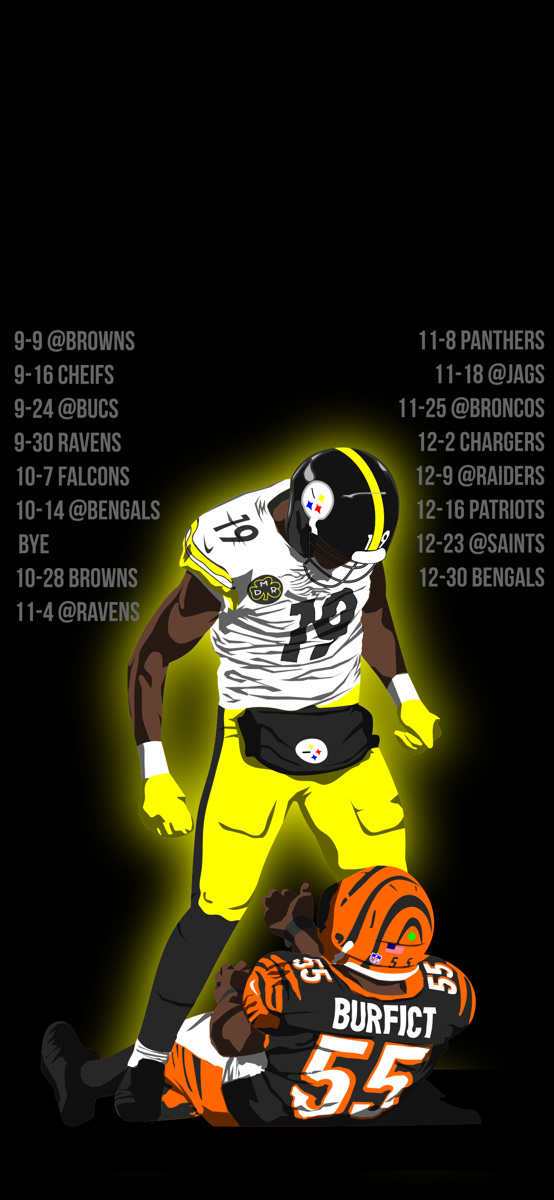 1125x2436 Anyone interested in this wallpaper I made? : steelers