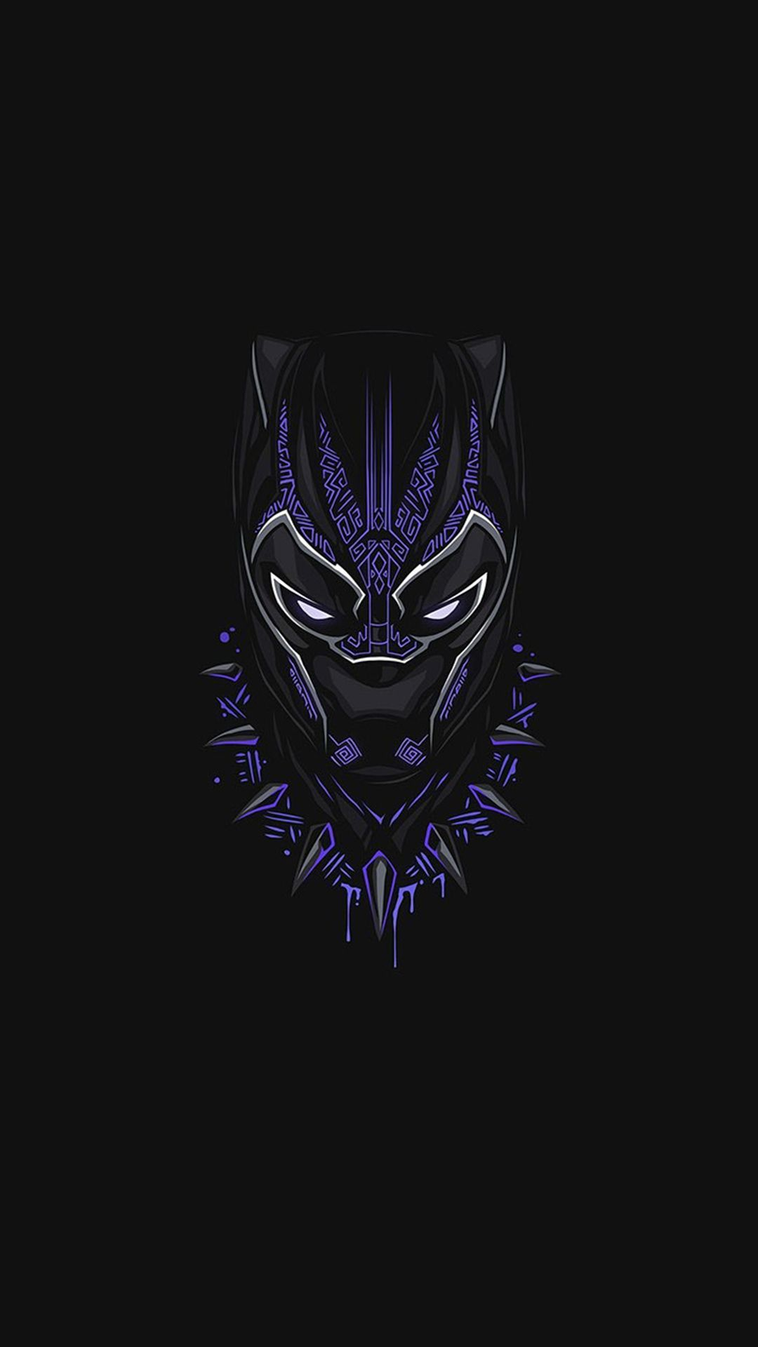 1080x1920 Black Panther Purple Minimal iPhone Wallpaper | [Mᴀʀᴠᴇʟ ...