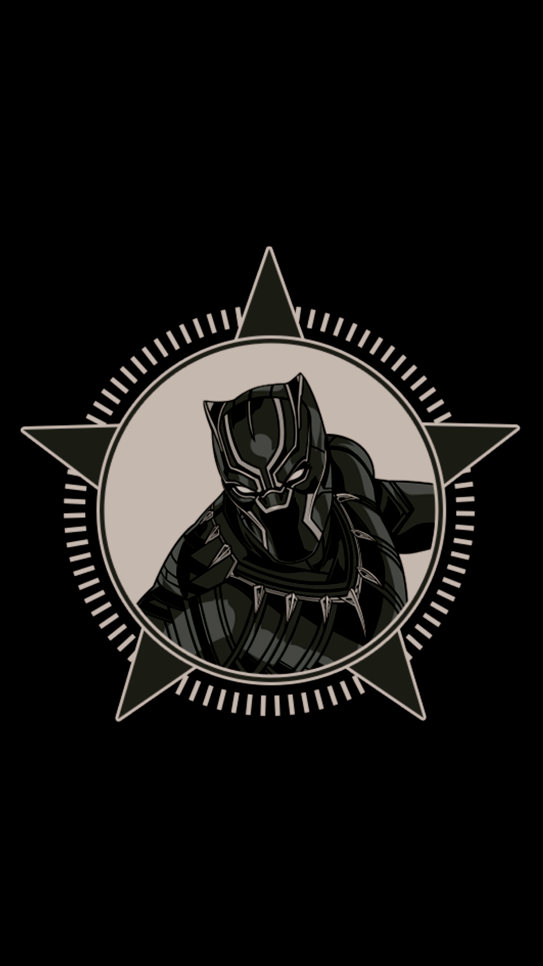 1080x1920 Black Panther Neon Wallpapers