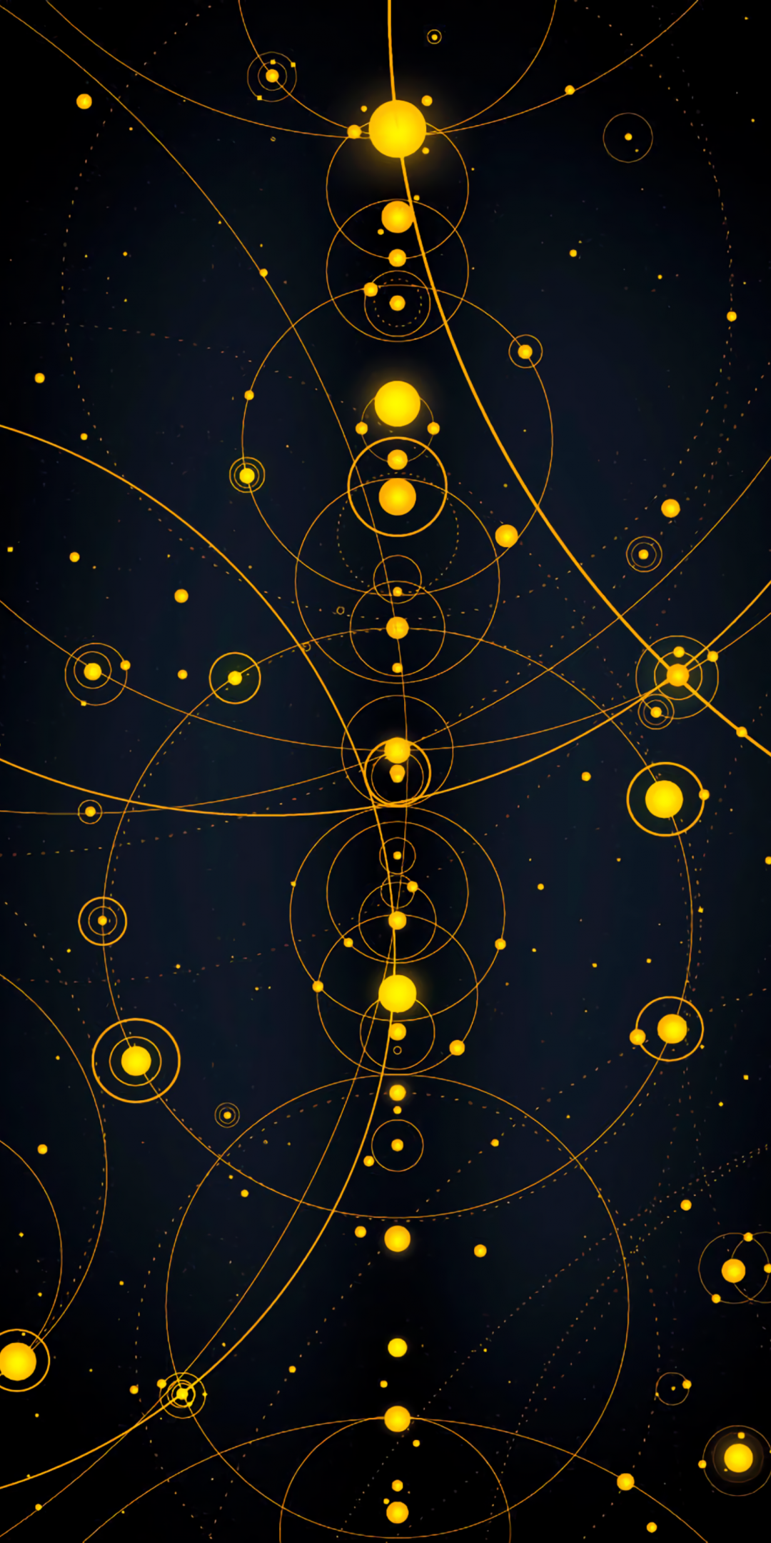 1080x2160 Abstract, solar system, circles, lines, 1080x2160 wallpaper ...