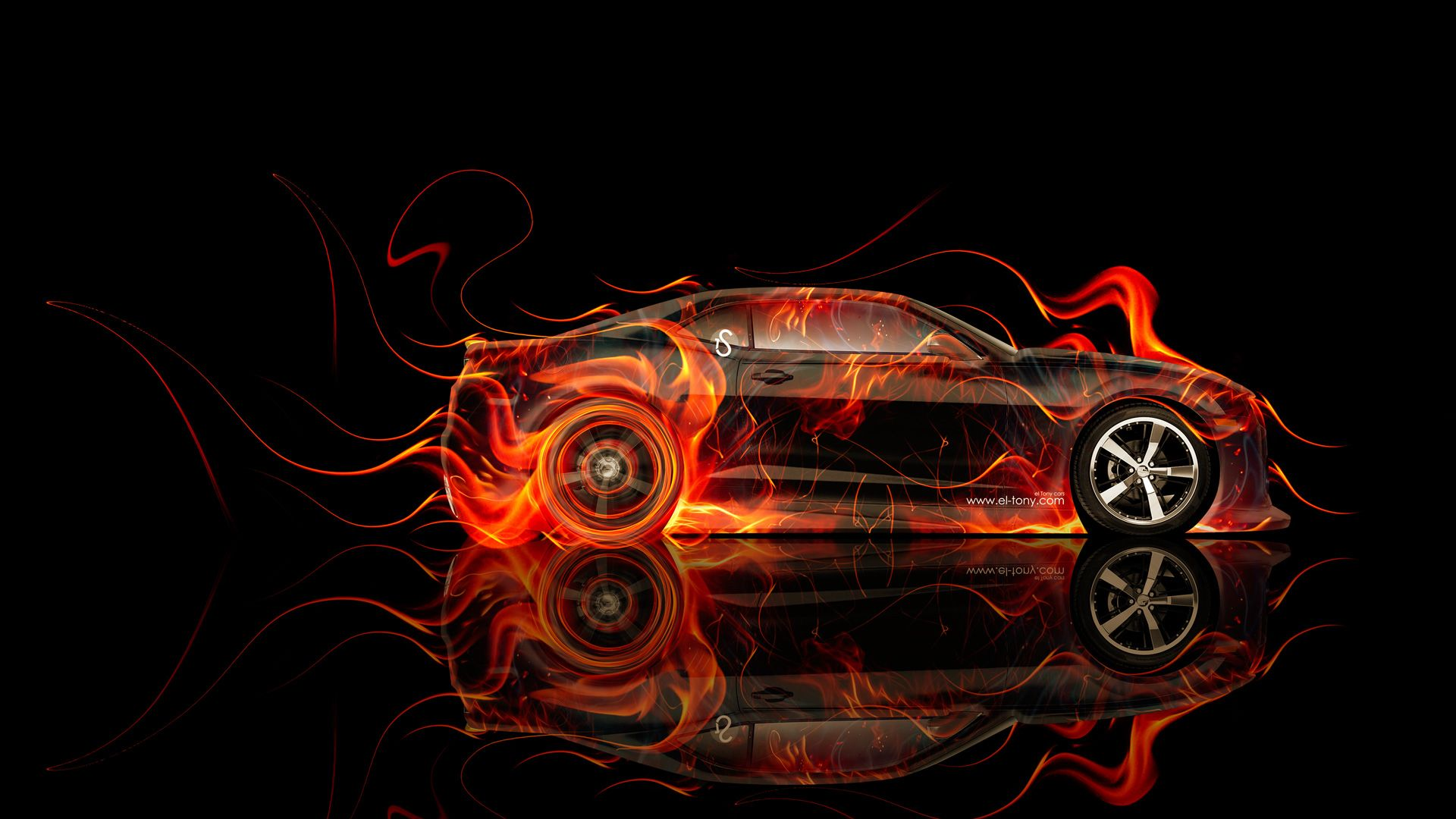 1920x1080 Chevrolet Camaro Muscle Side Fire Abstract Car 2014 | el Tony