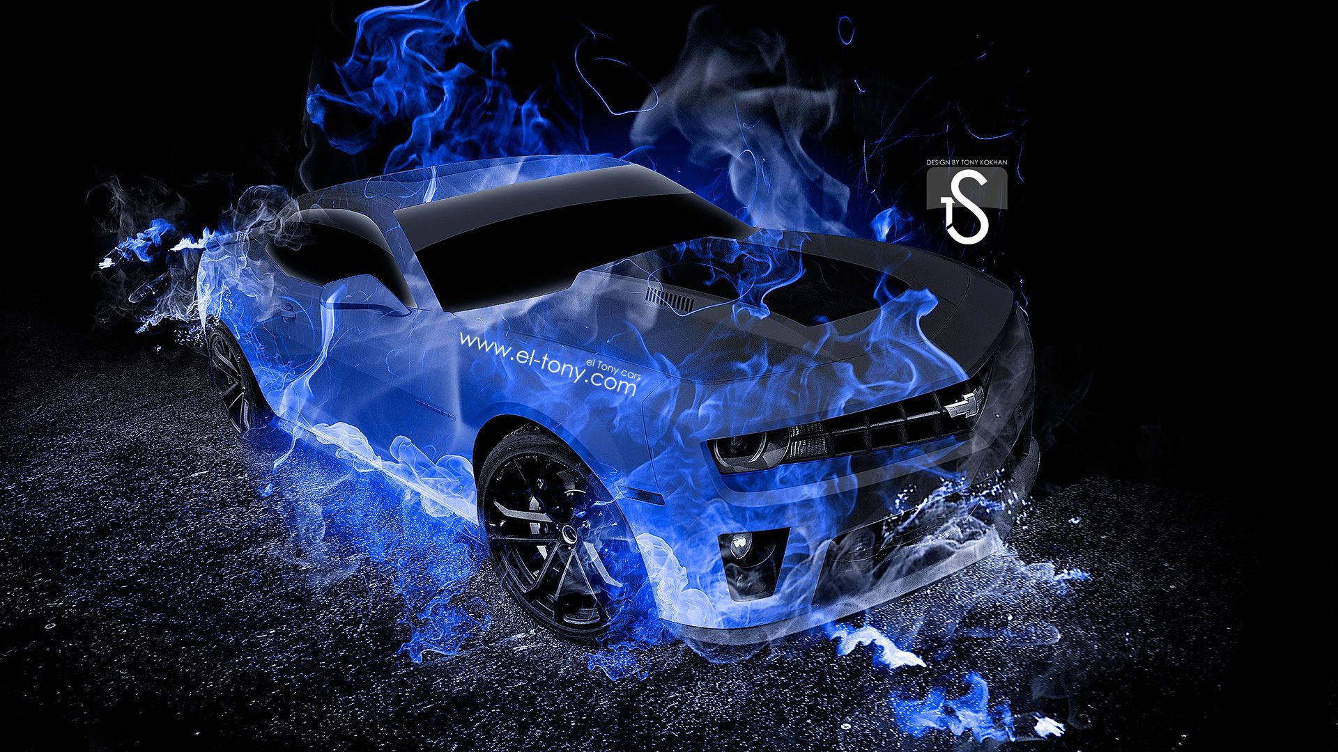 1920x1080 Chevrolet Camaro Car Fire - Wallpapers Browse