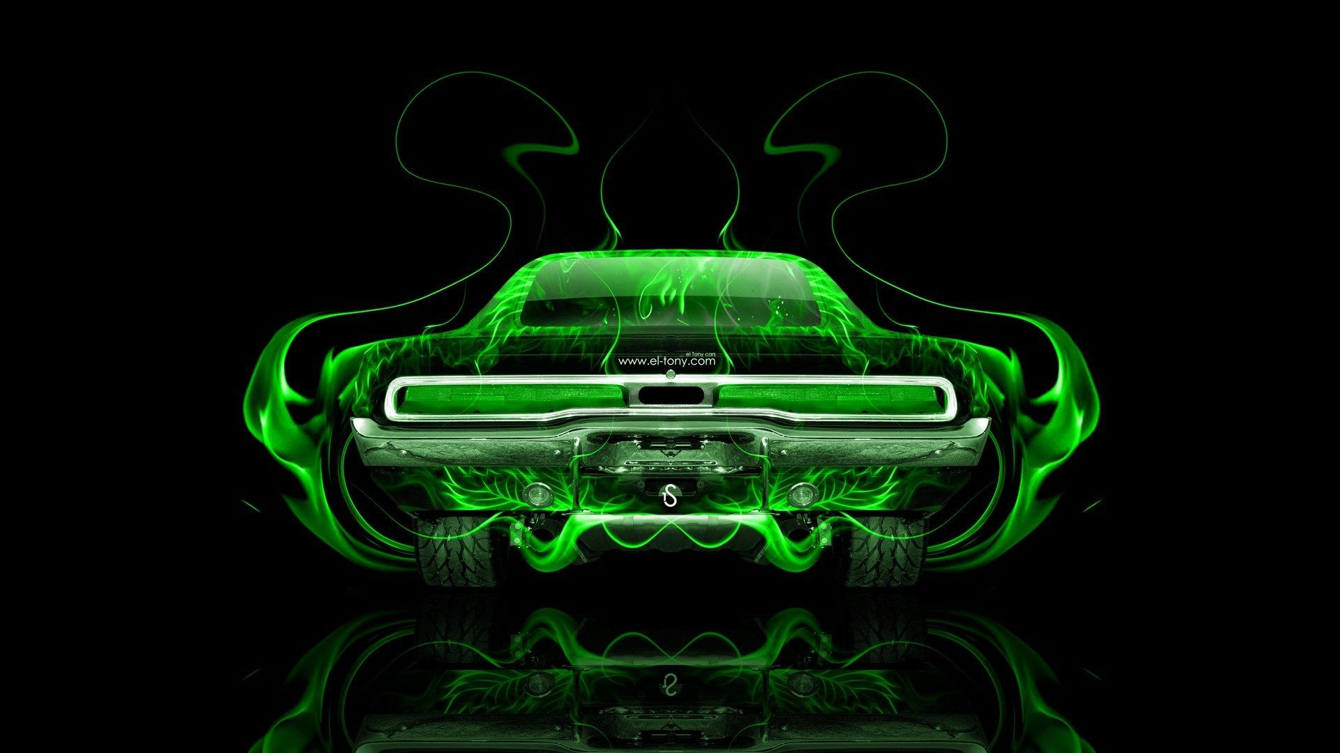 1920x1080 Dodge Charger Muscle Retro Back Fire Abstract Car 2014 ...